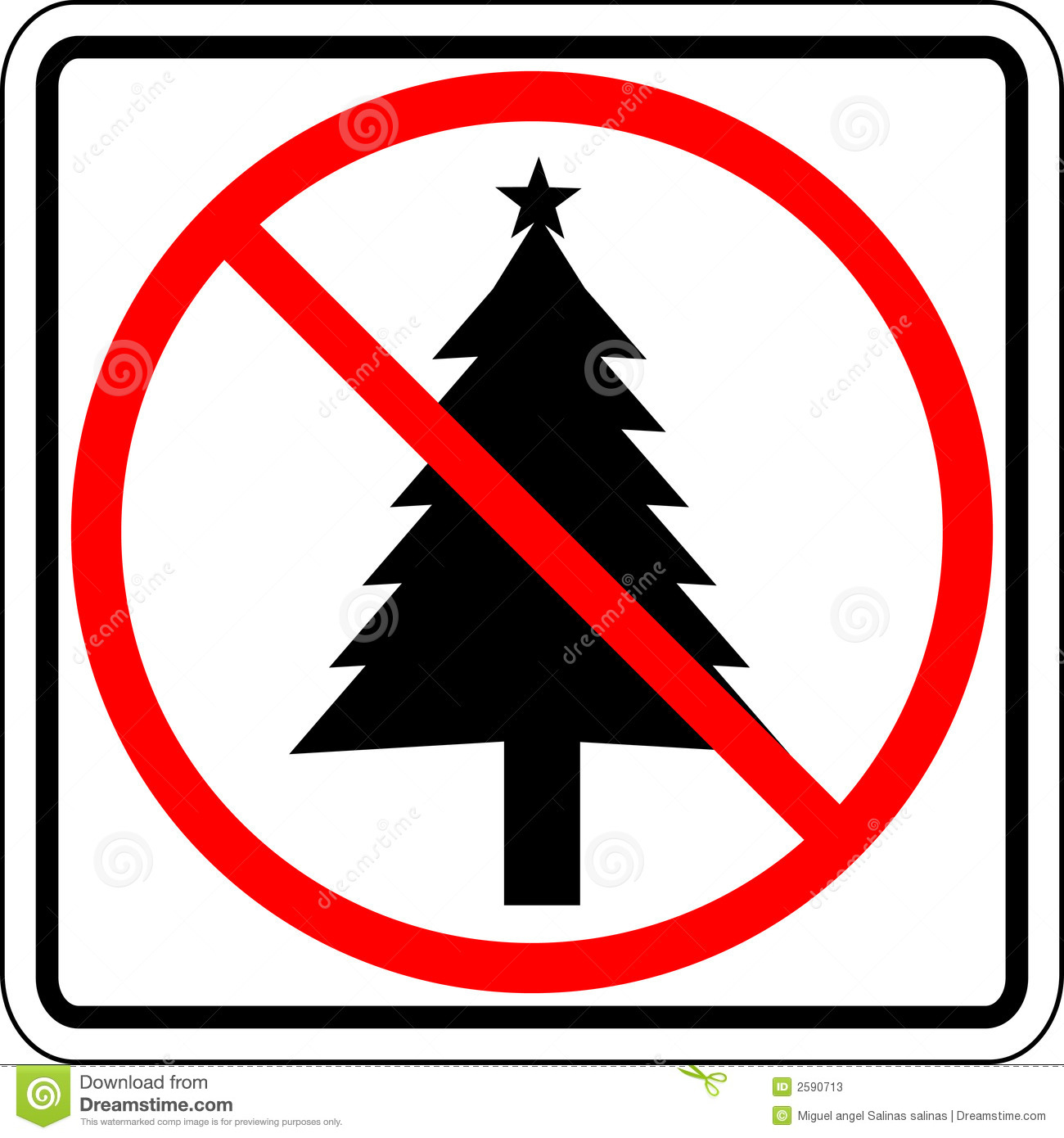 Christmas Prohibited Vector Sign Stock Photos Image 2590713