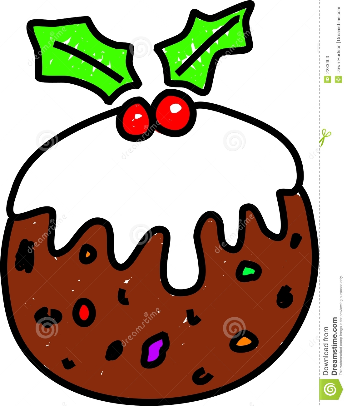christmas pudding stock vector illustration of occasions 2233403 rh dreamstime com