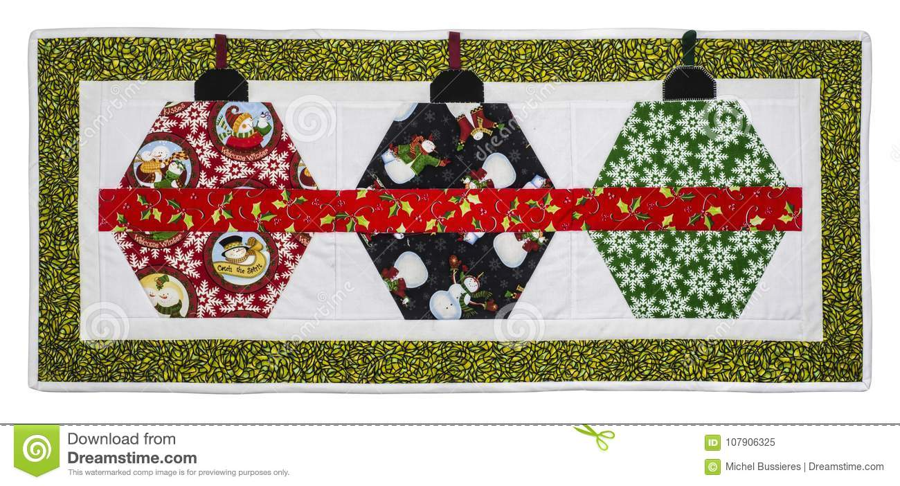 Free Christmas Quilt Patterns To Download.Christmas Quilt Stock Image Image Of Brown Material 107906325
