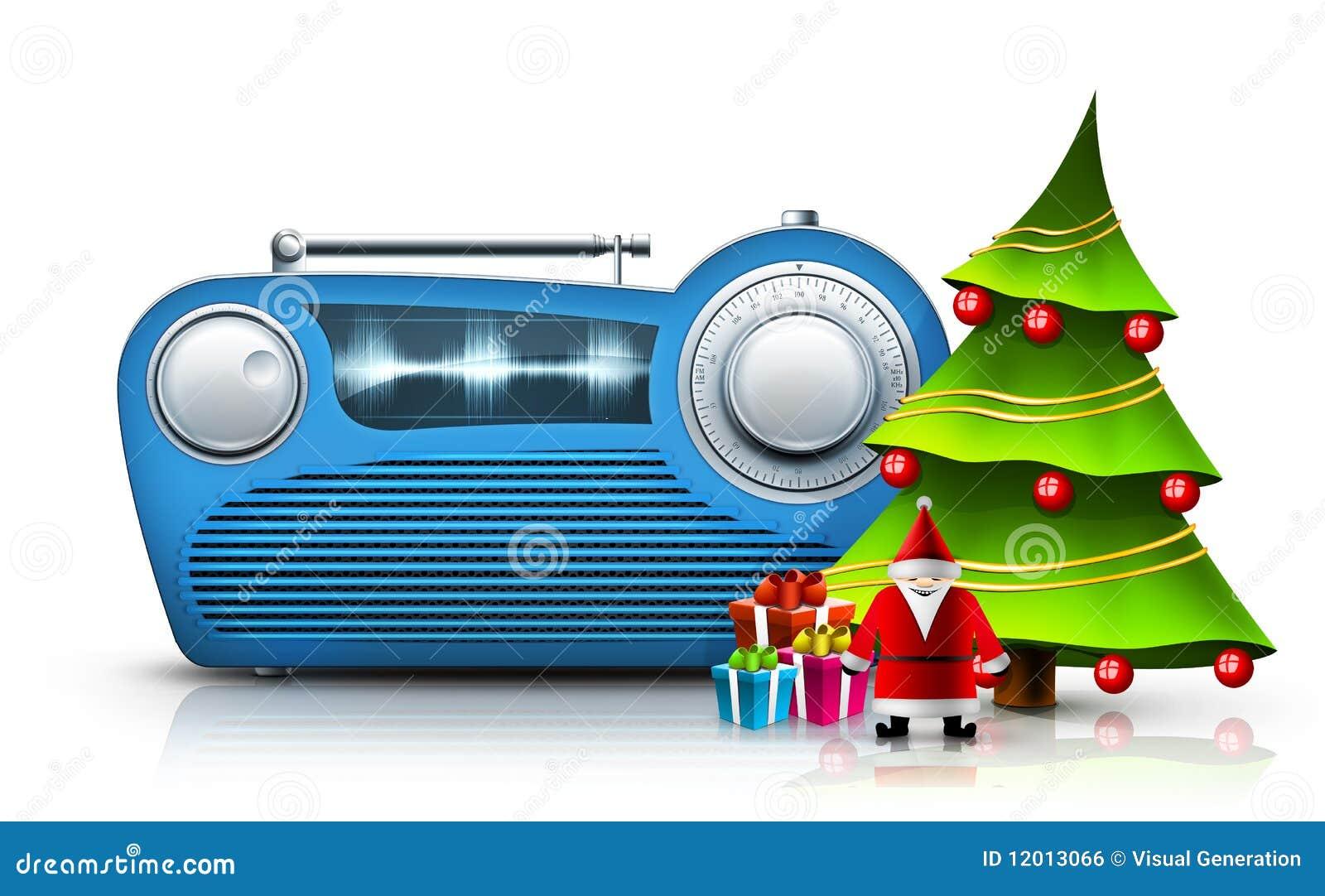 Free Christmas Radio.Christmas Radio Stock Illustration Illustration Of
