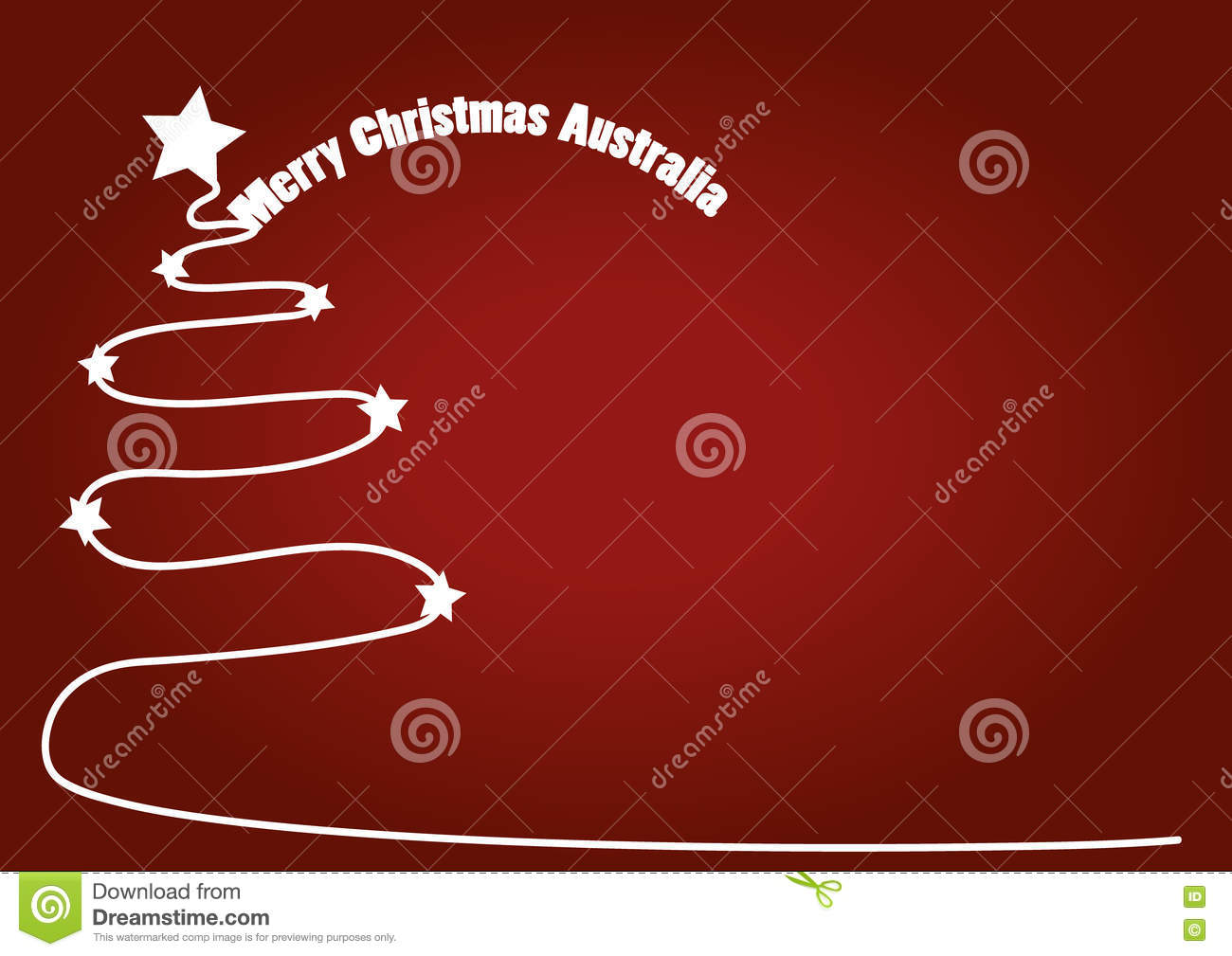 Christmas In Australia Background.Christmas Red Background With White Christmas Tree And
