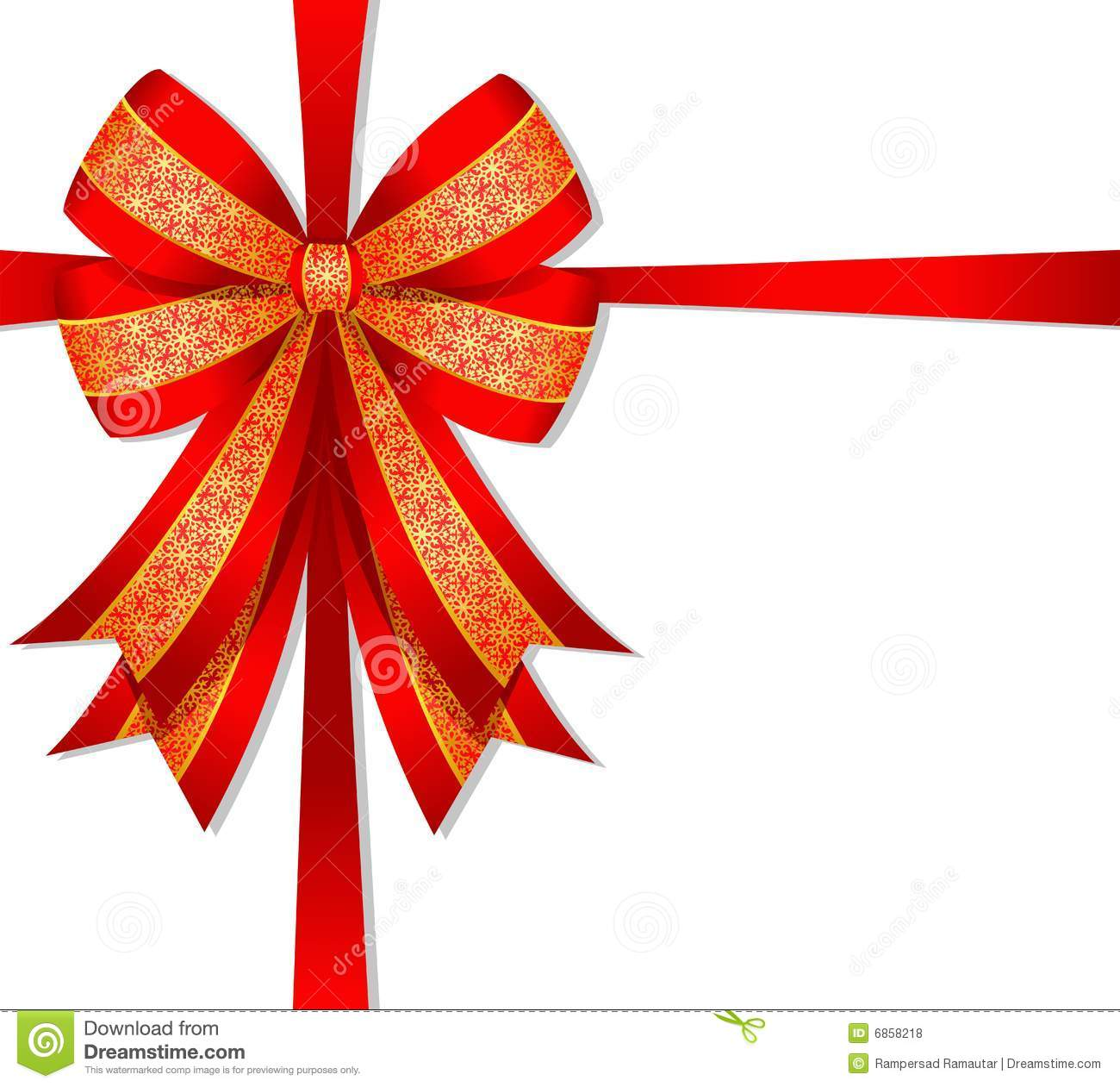 Christmas red bow stock vector image of shiny decoration