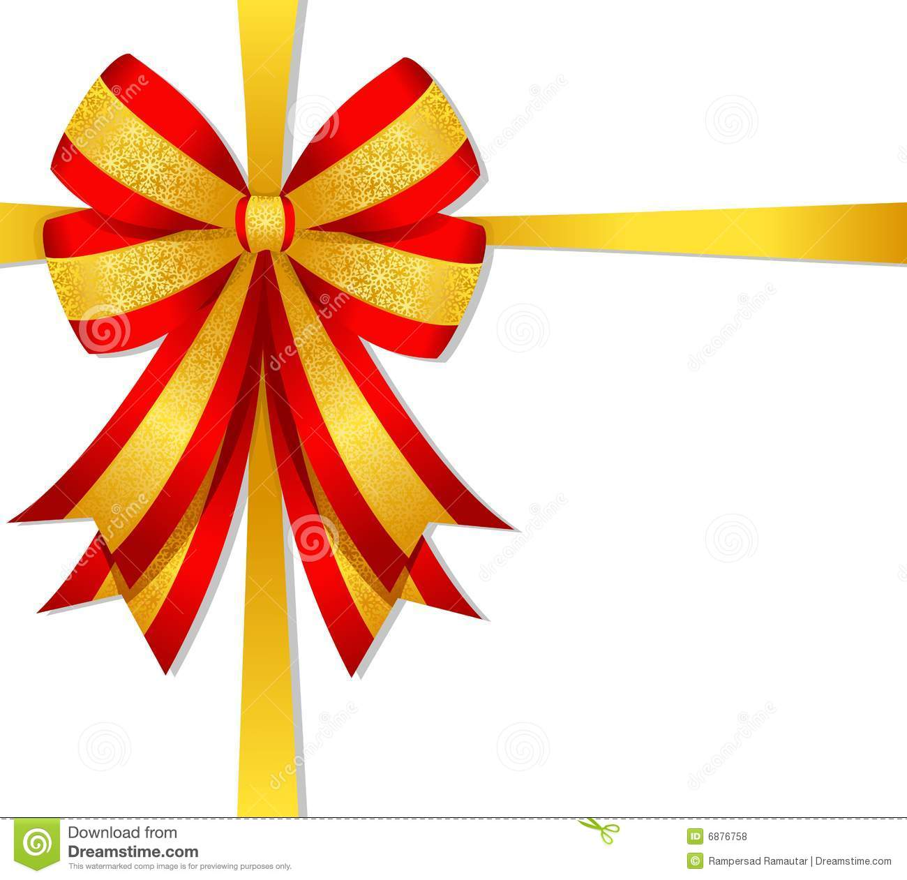 Christmas Red Bow Royalty Free Stock Photos - Image: 6876758