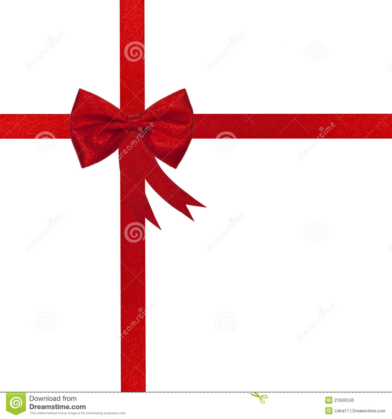 Christmas Red Ribbon And Bow Stock Photo - Image: 21609240