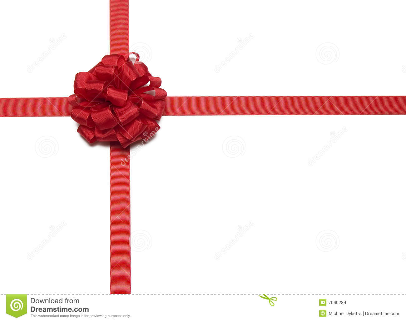 Christmas red ribbon and bow stock images image