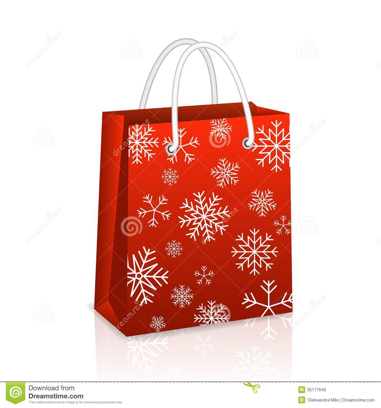 Christmas Red Shopping Bag Royalty Free Stock Photo - Image: 35177645