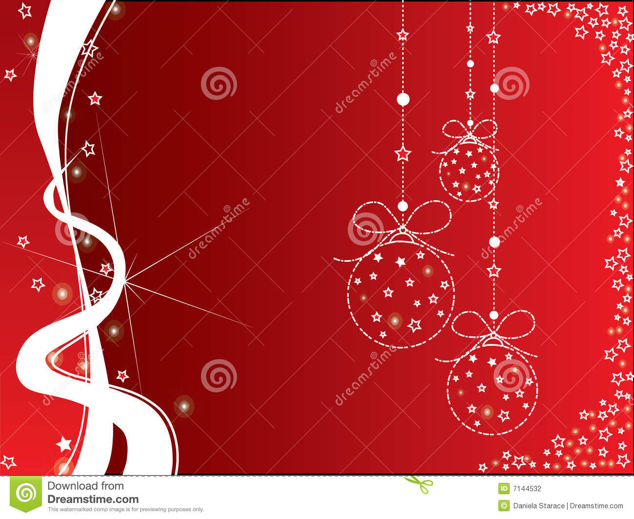 Christmas Red And White Background Stock Vector Image