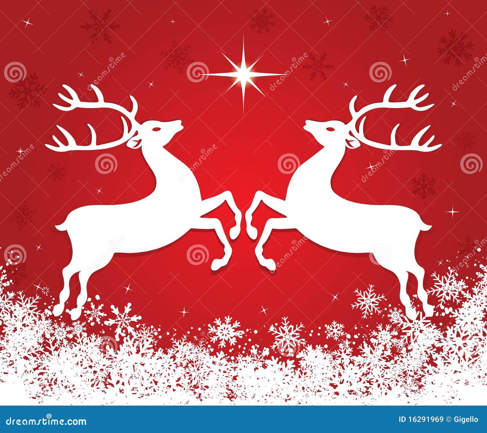 christmas reindeer stock vector illustration of running 16291969