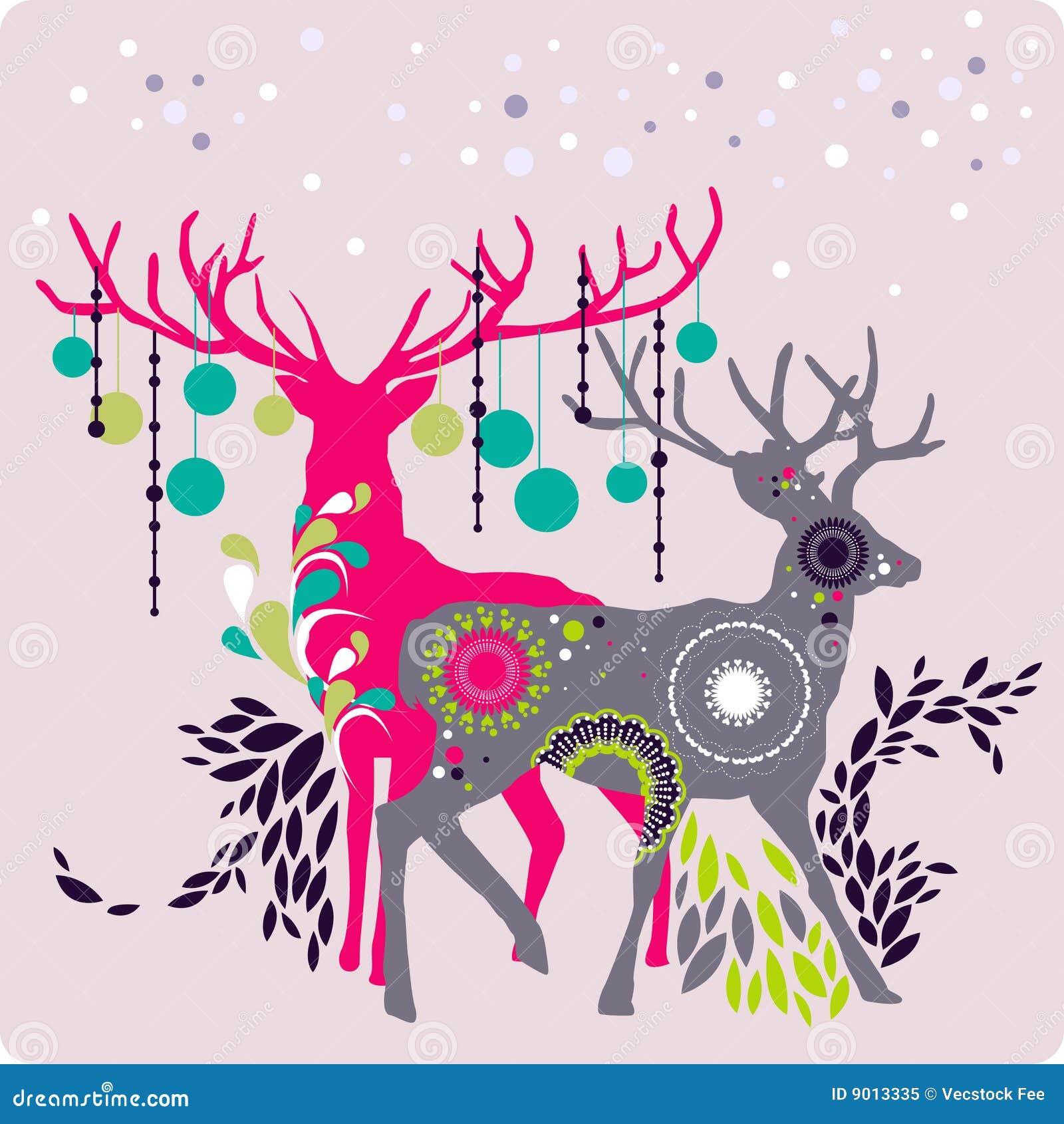Christmas Reindeer Royalty Free Stock Photo - Image: 9013335