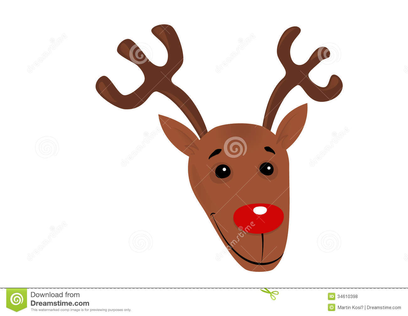 Reindeer cartoon face galleryhip com the hippest galleries