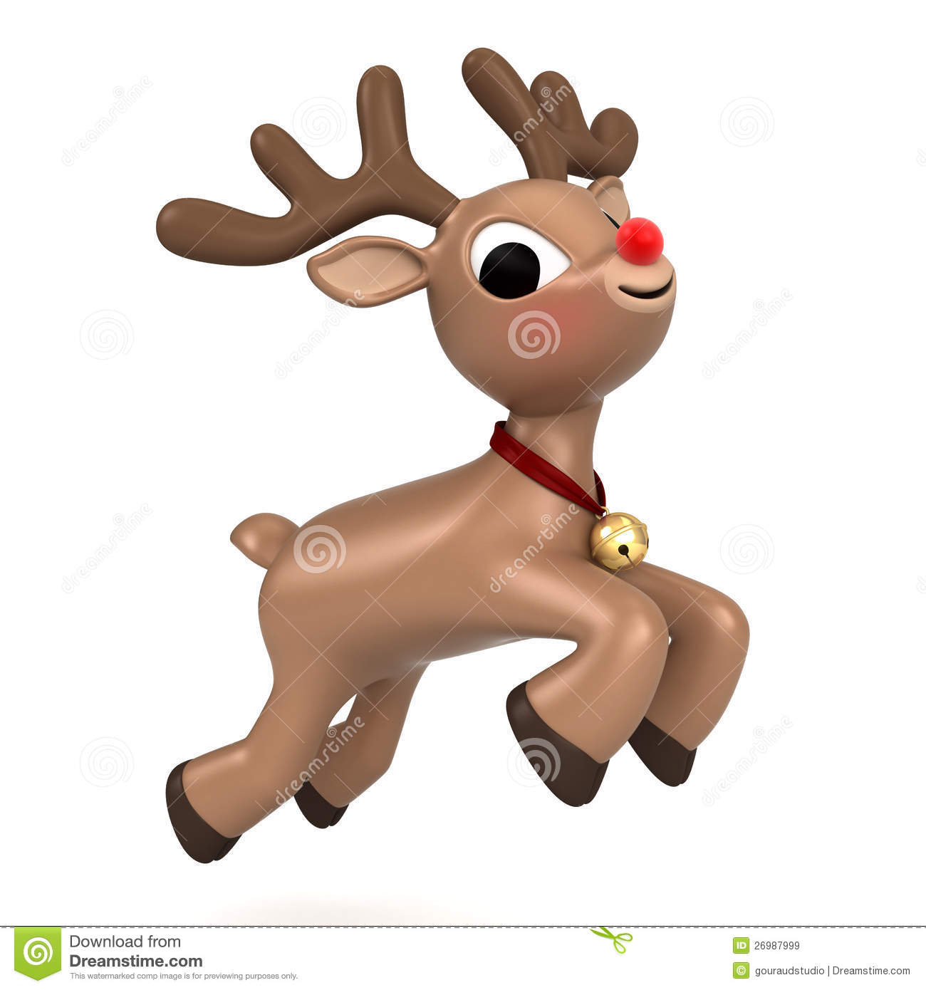 Christmas Reindeer Flying Royalty Free Stock Images - Image: 26987999