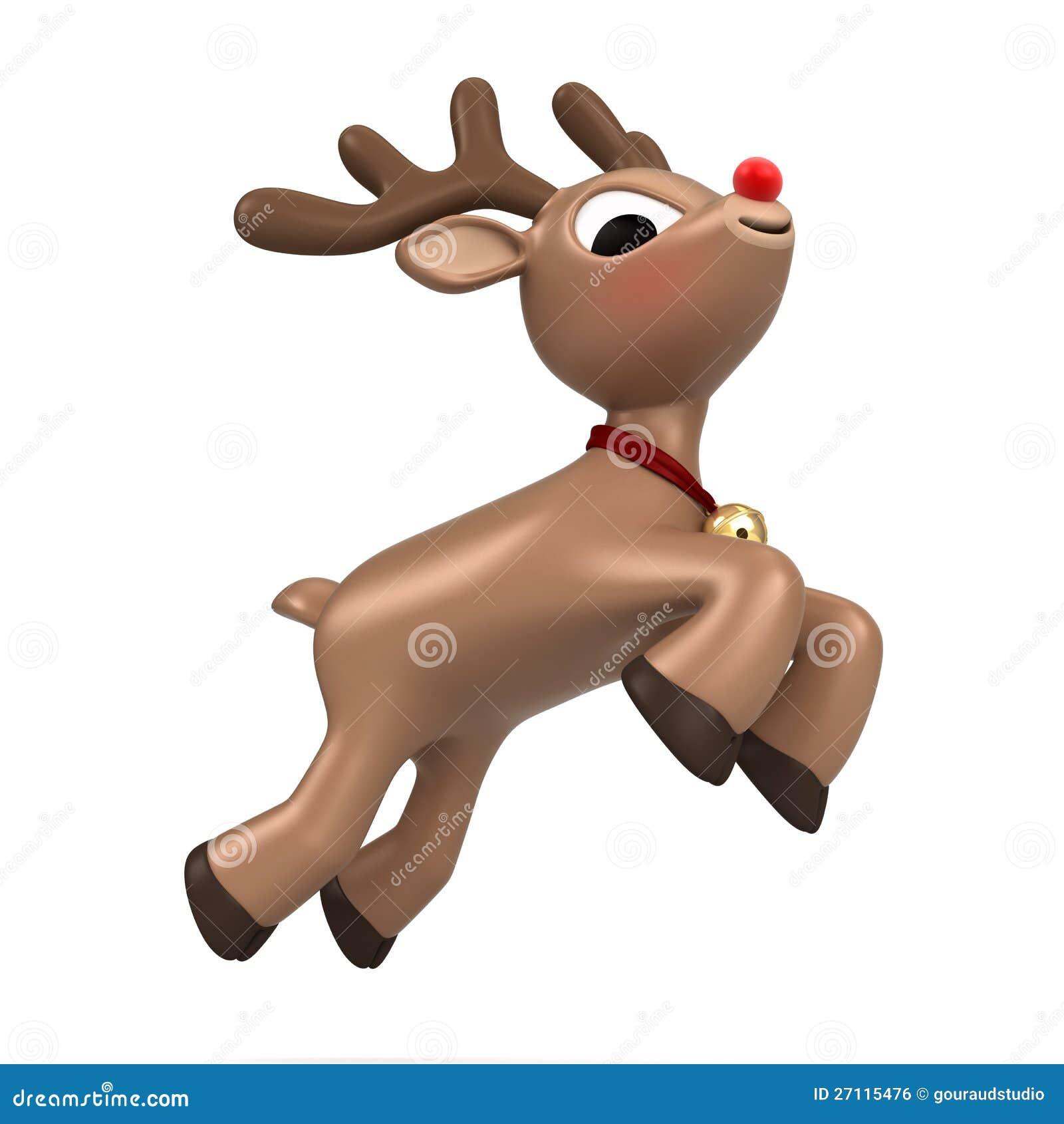 Christmas Reindeer Flying Royalty Free Stock Image - Image ...