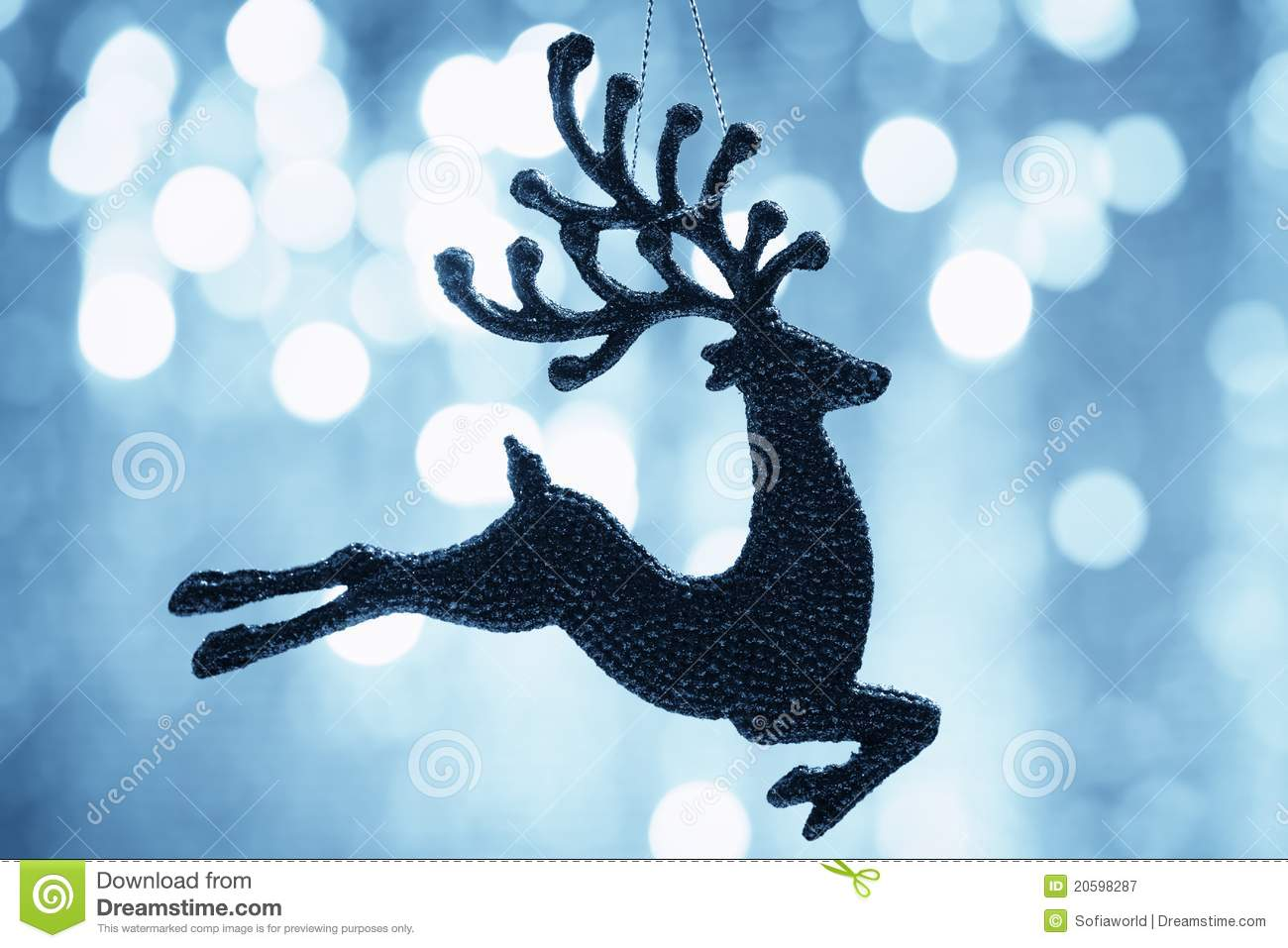 Christmas Reindeer Silhouette Royalty Free Stock Photography - Image ...