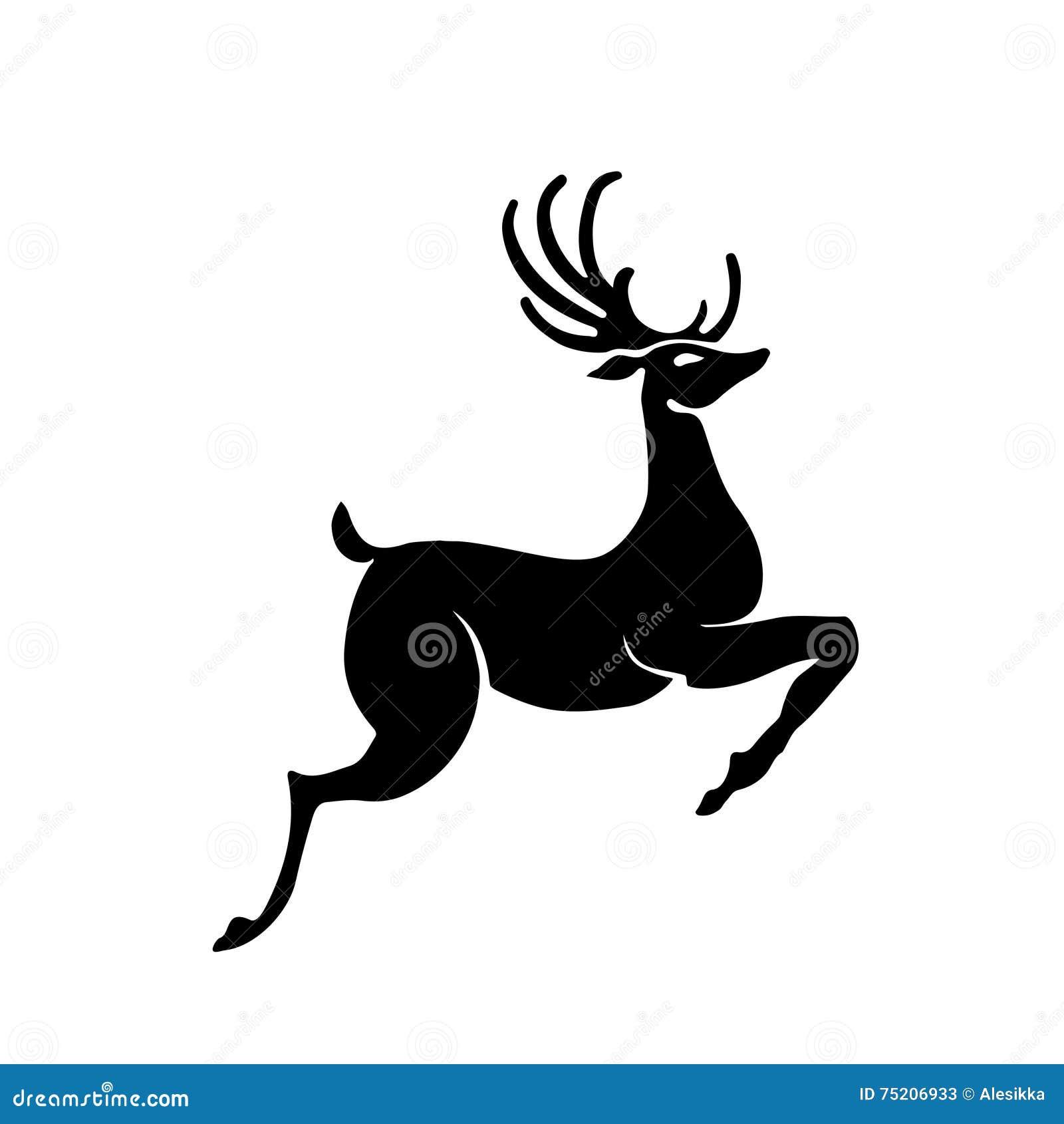 Christmas Reindeer Silhouette.Christmas Reindeer Silhouette Stock Vector Illustration Of