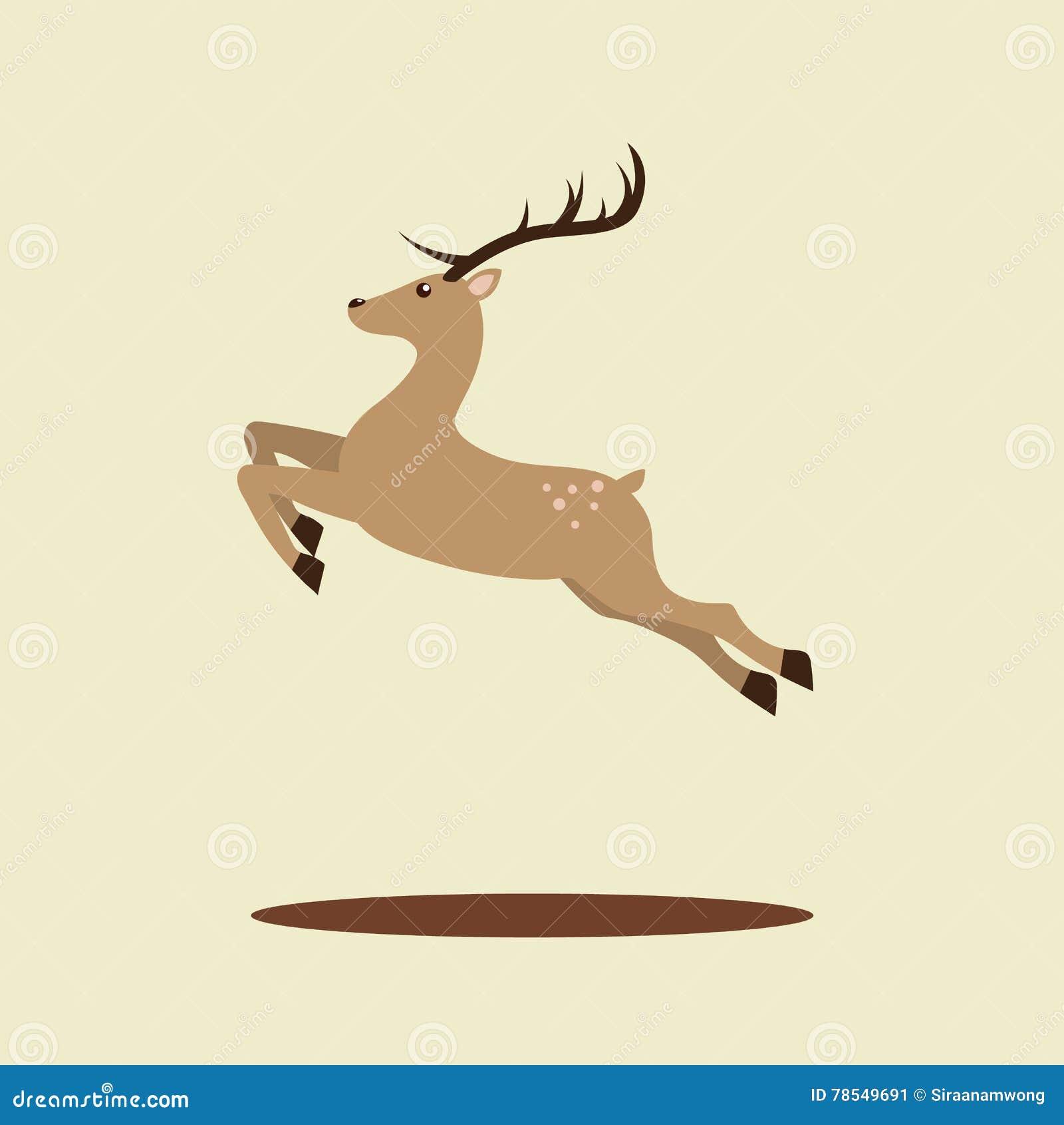 Christmas Reindeer Vector Illustration Stock Vector ...