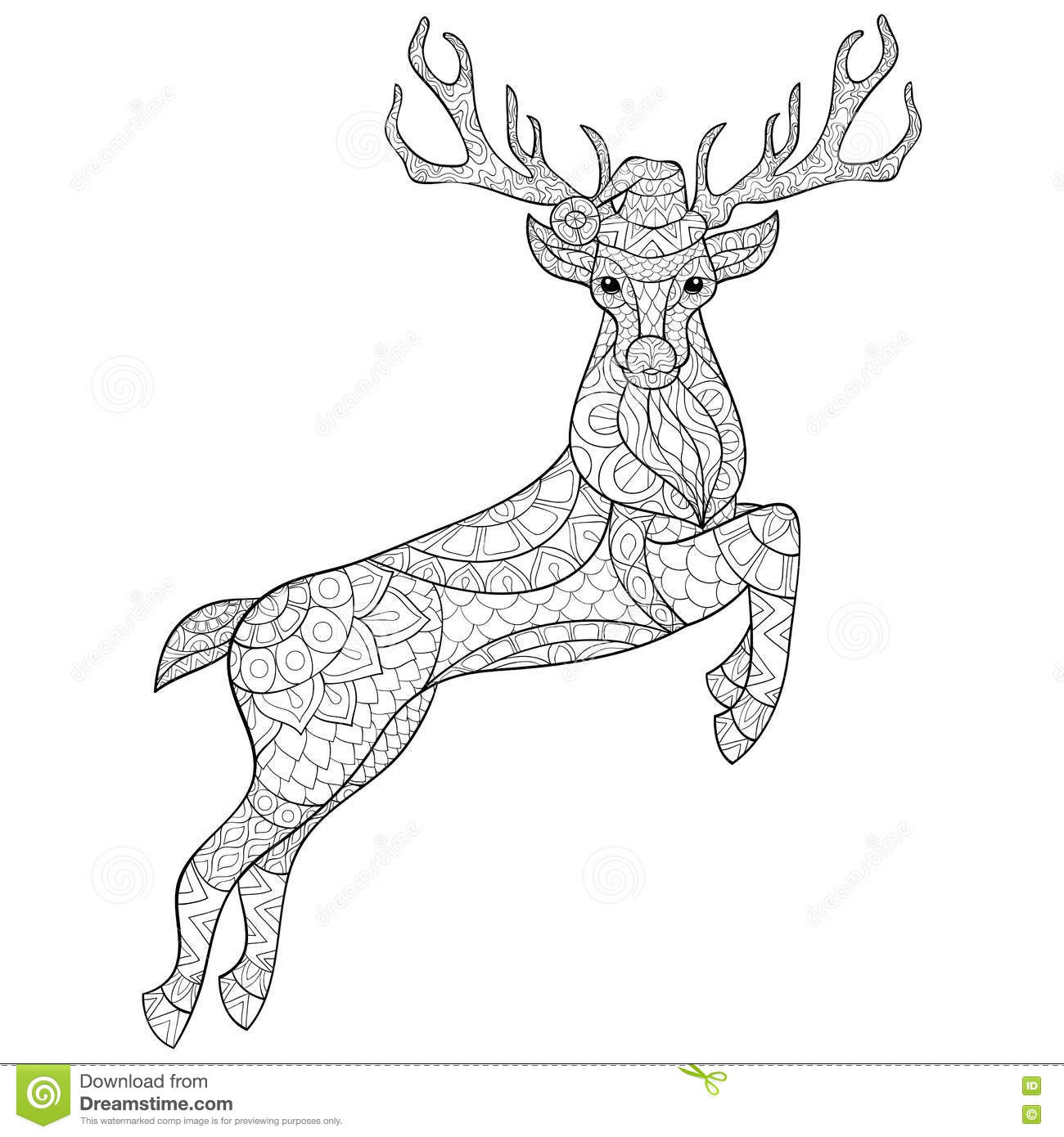 Christmas reindeer stock vector. Illustration of jumping ...