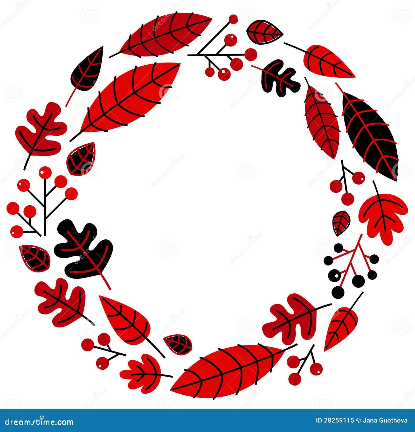 Christmas Retro Holiday Wreath Stock Vector Illustration Of Element Border 28259115