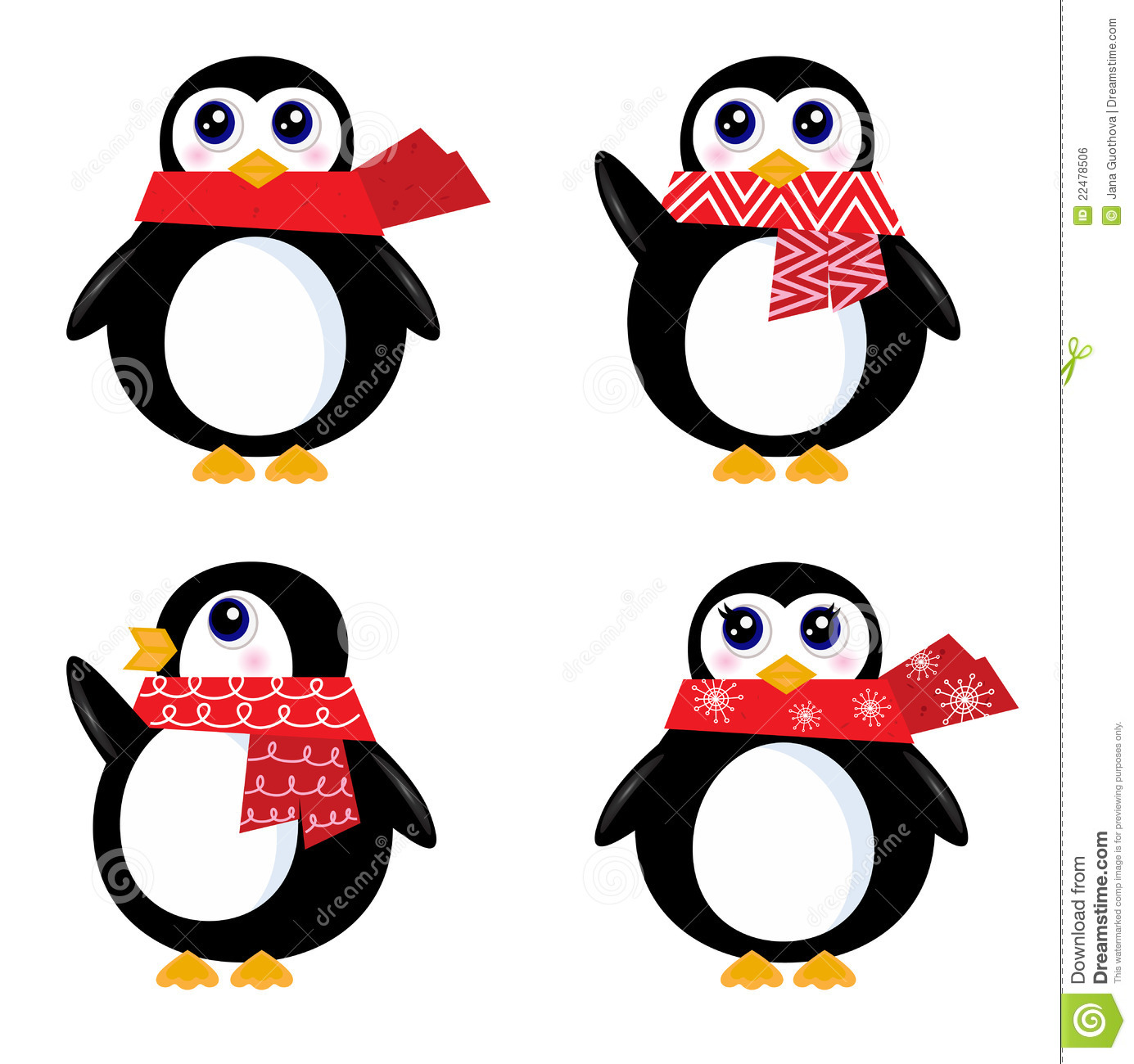 Cute Penguins Clipart Isolated White Background Stock Photos ...