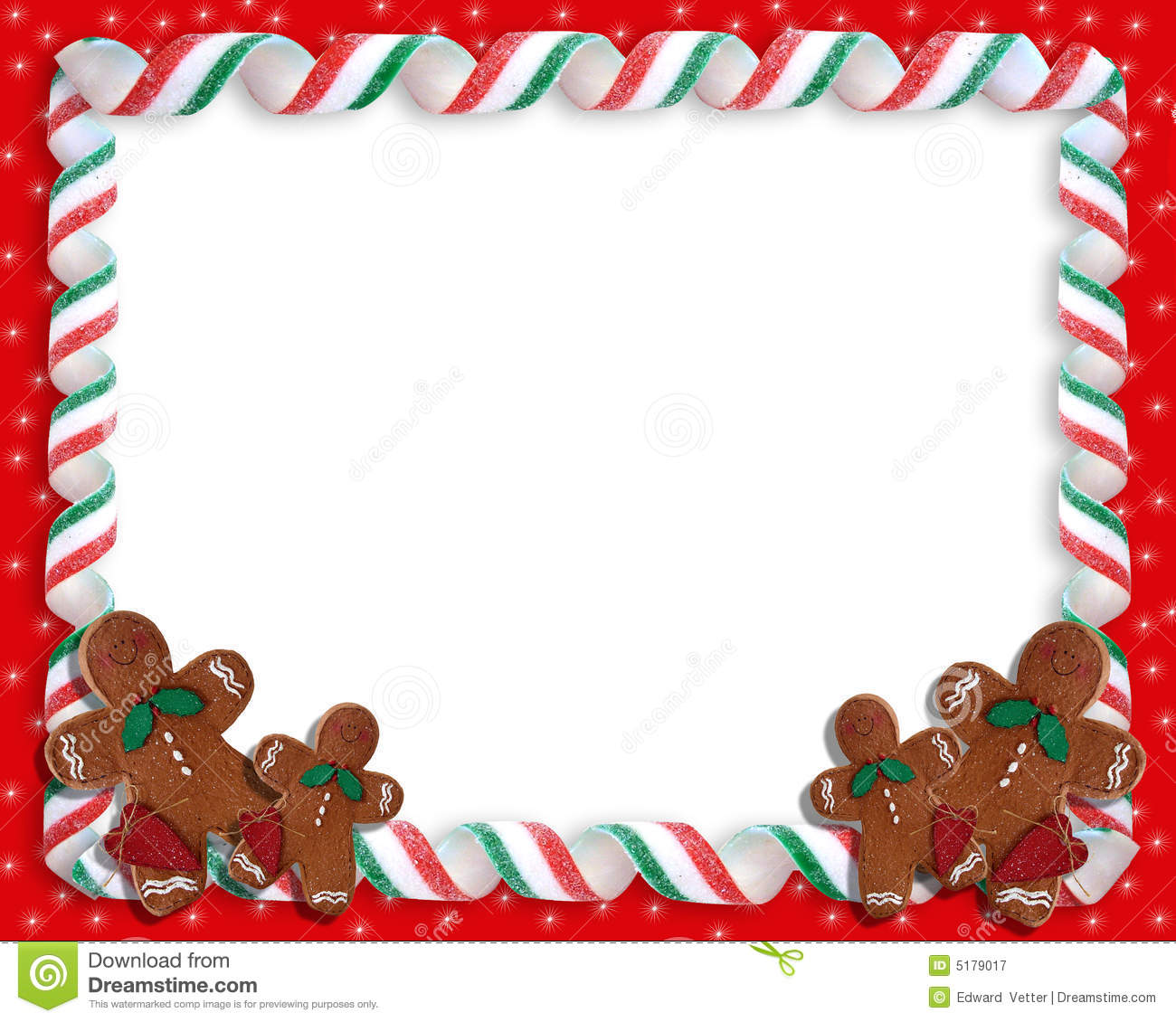 Christmas Ribbon Candy Frame Royalty Free Stock
