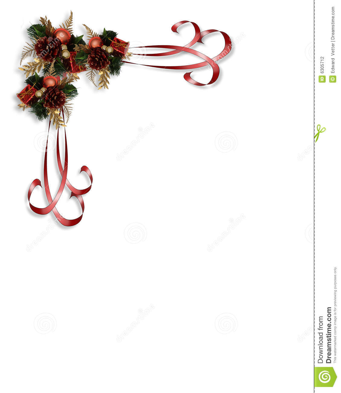 Image and illustration composition Christmas design with holly leaves ...