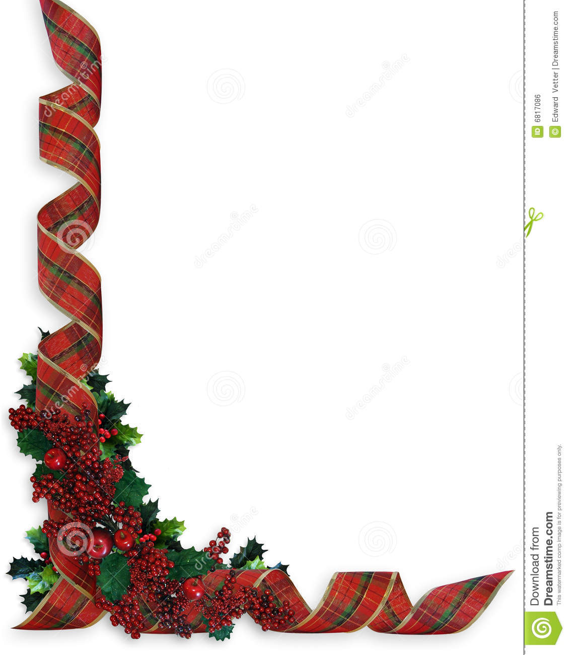 Christmas Ribbons Holly Border Royalty Free Stock Image - Image ...