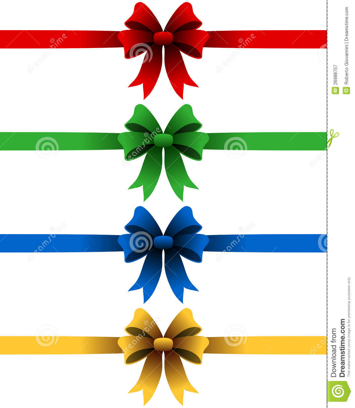 Christmas Ribbons Set stock vector. Image of dividers ...