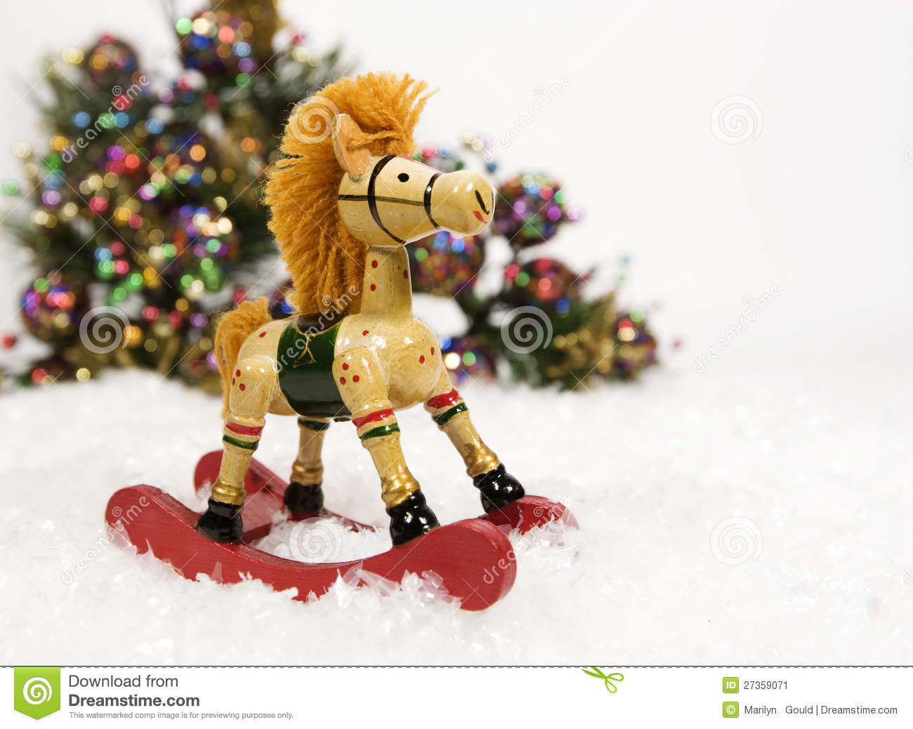 Christmas Colorful Horse Rocking