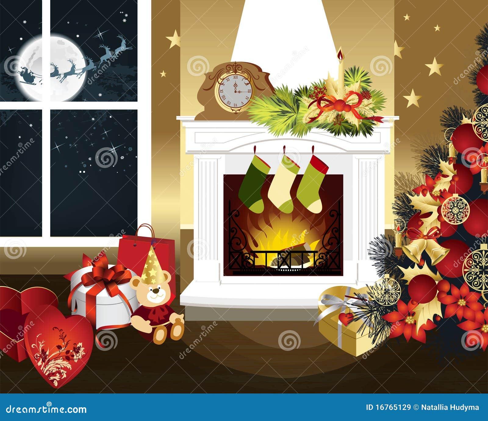 Christmas Room christmas wreath royalty free stock image - image: 11023436