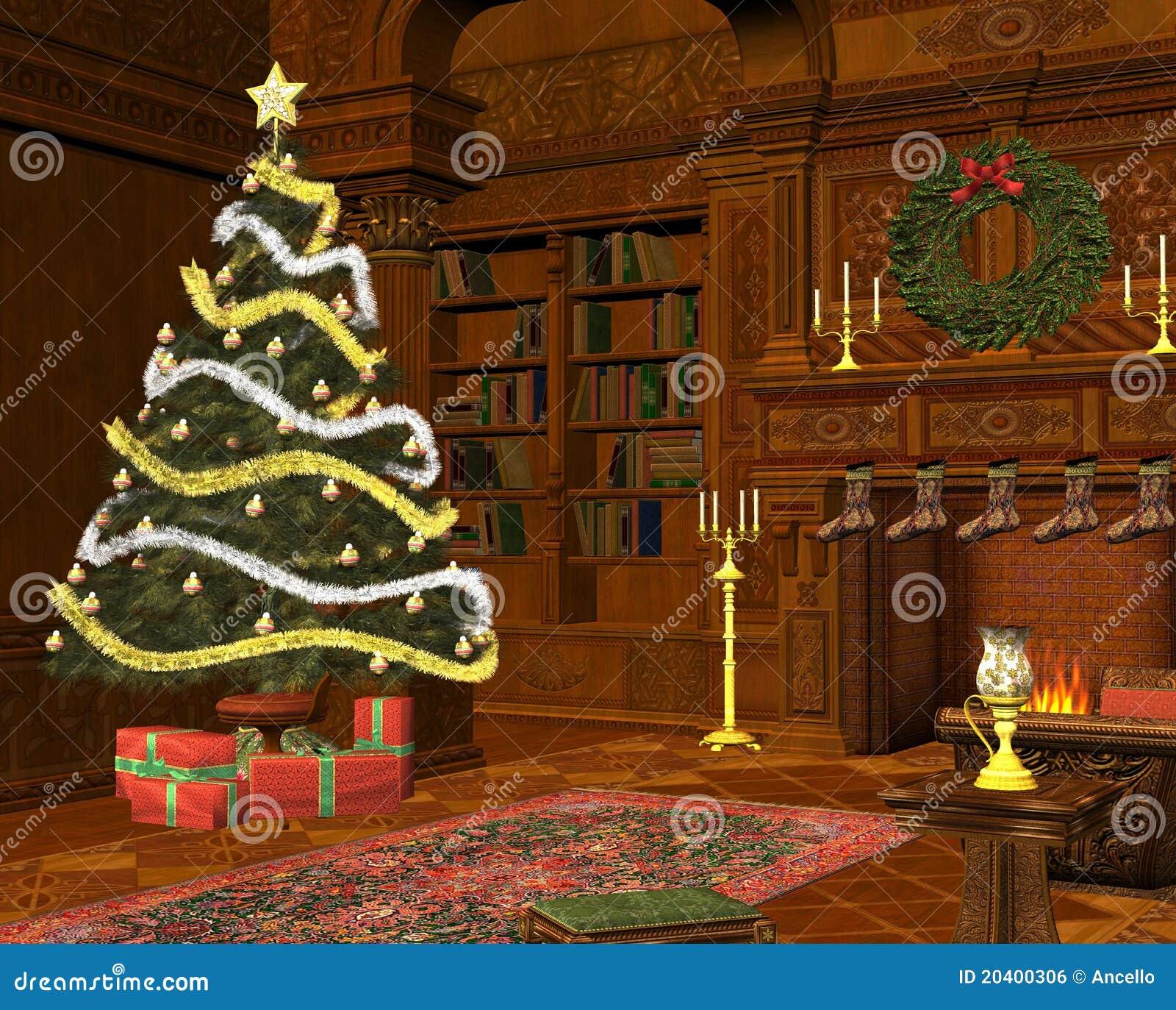 Christmas Room christmas room royalty free stock image - image: 20400306