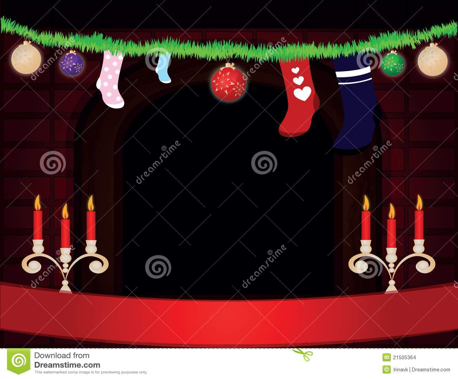Christmas Room Stock Vector Image Of Illuminated: Christmas Room Stock Images