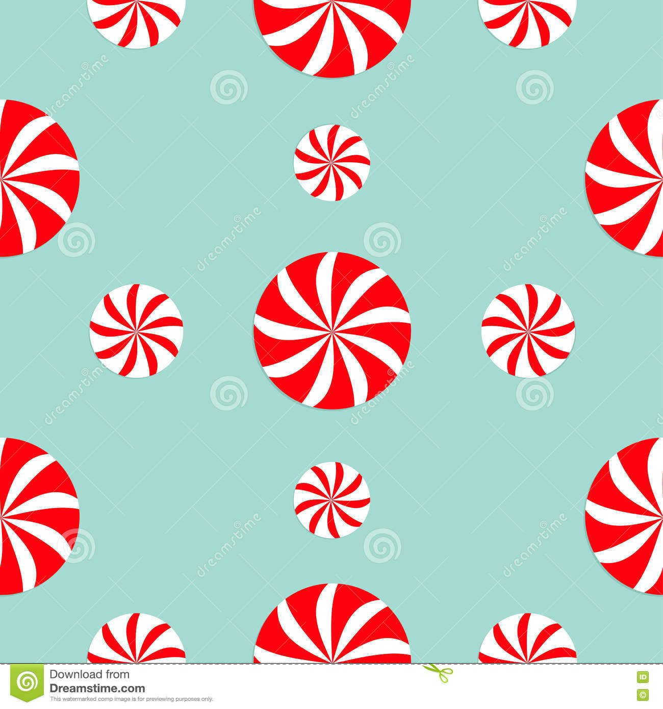 christmas round white and red sweet set candy cane seamless christmas round white and red candy sweet set seamless pattern decoration royalty stock
