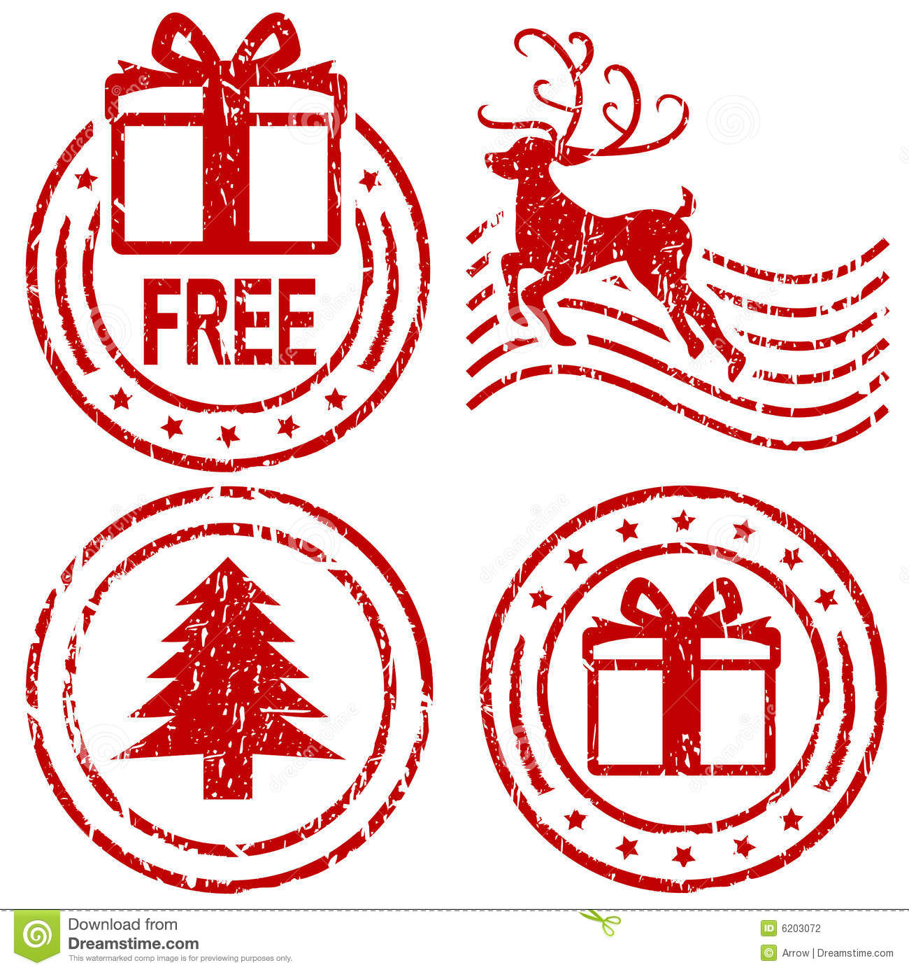 Christmas Rubber Stamps Stock Photography - Image: 6203072