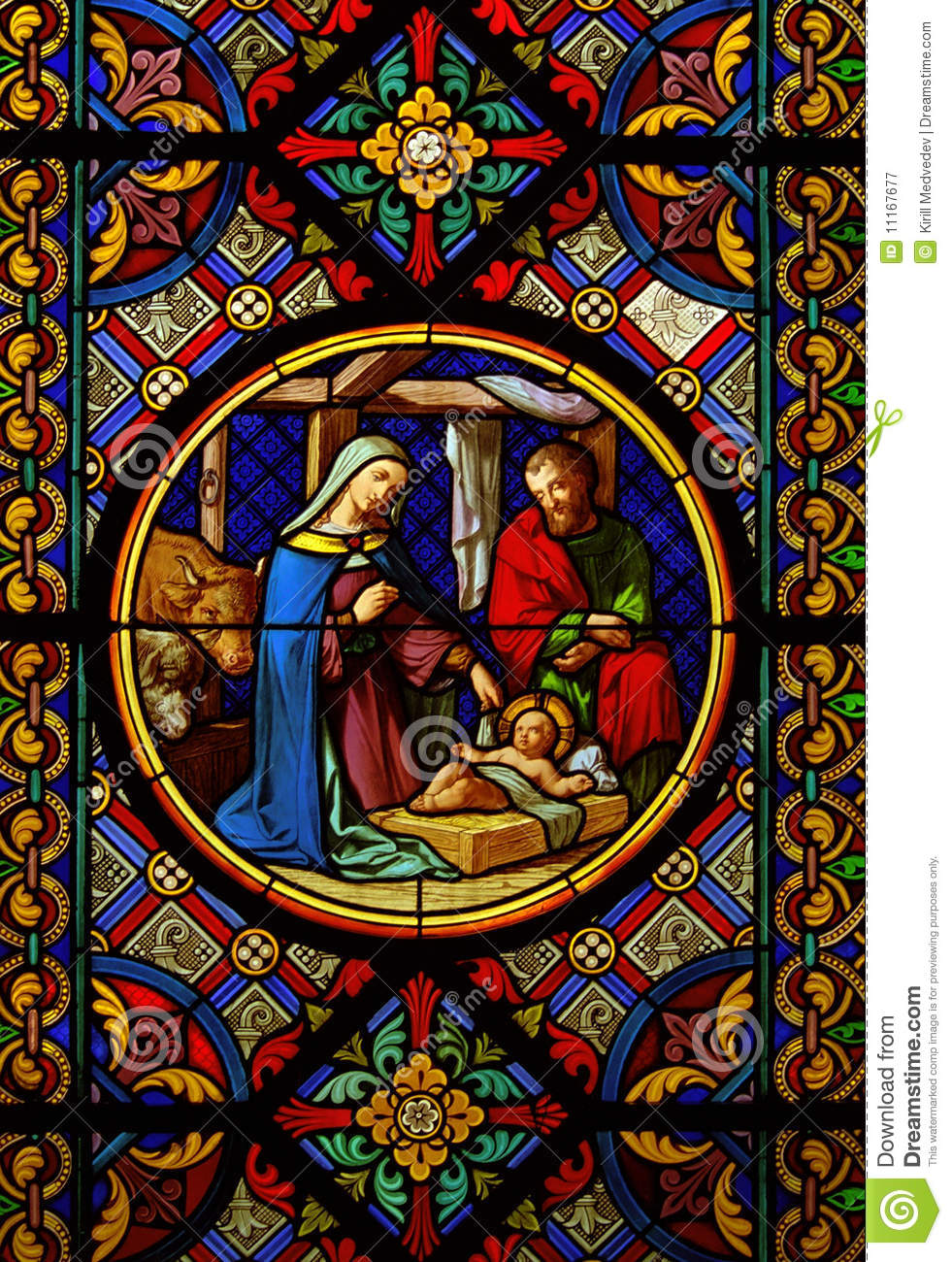Christmas Tree Stained Glass Window