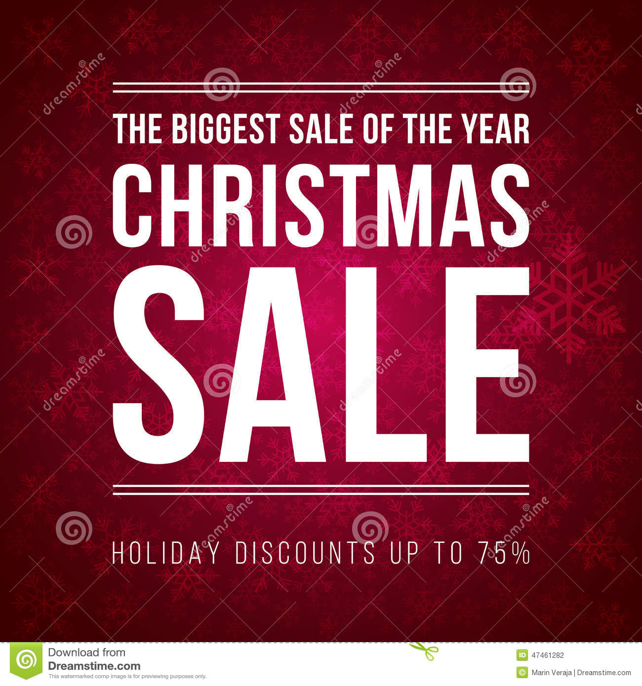 Christmas Sale Ad Designed In A Modern Flat Style