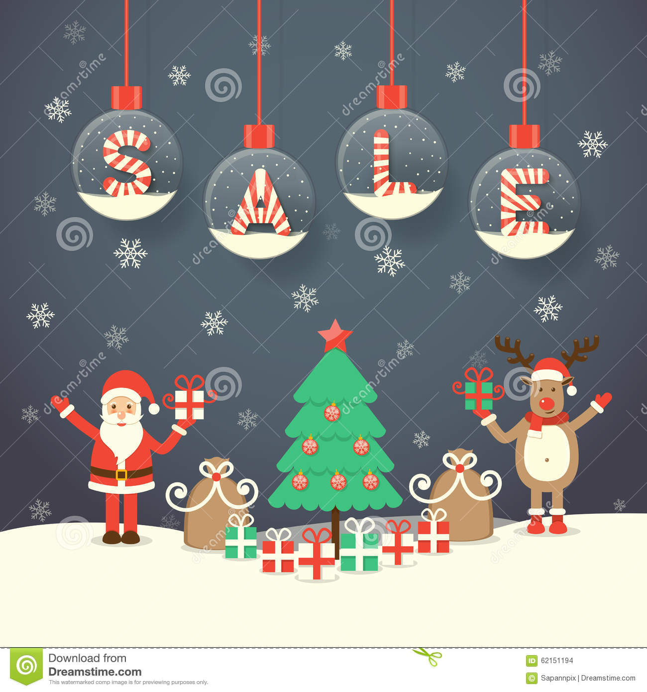 Christmas sale background stock vector. Illustration of candy - 62151194