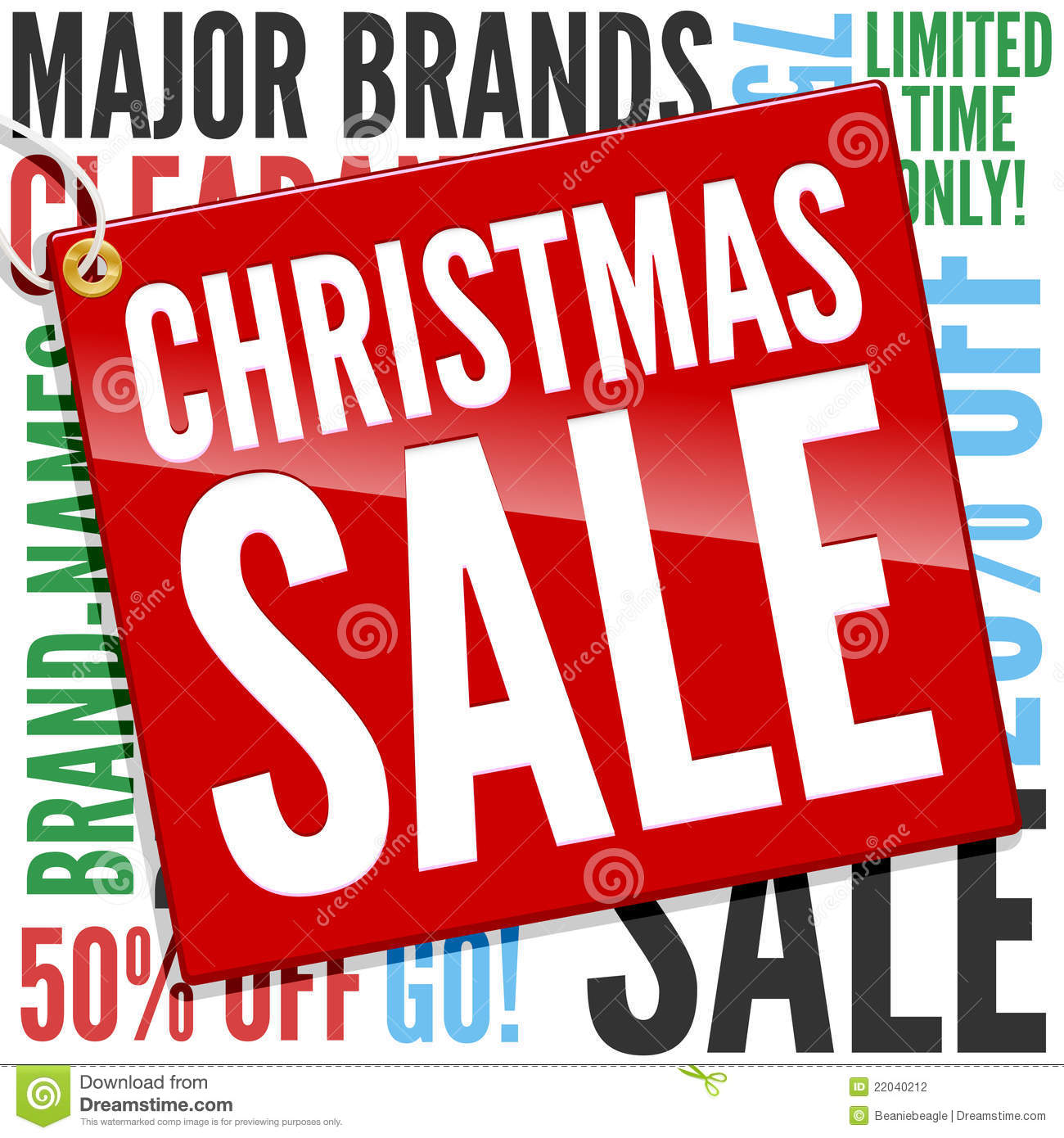 Banner Christmas Sale. Stock Vector - Image: 79031744