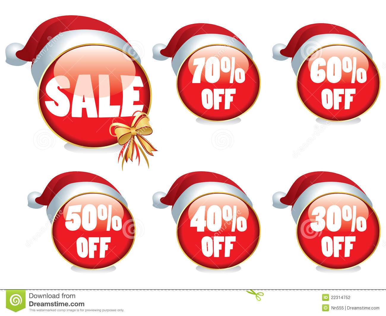 Christmas sale buttons