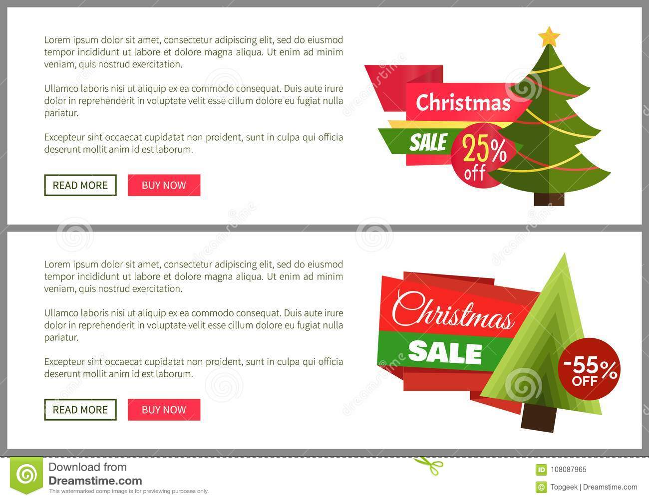 christmas sale buy now posters vector illustration stock vector