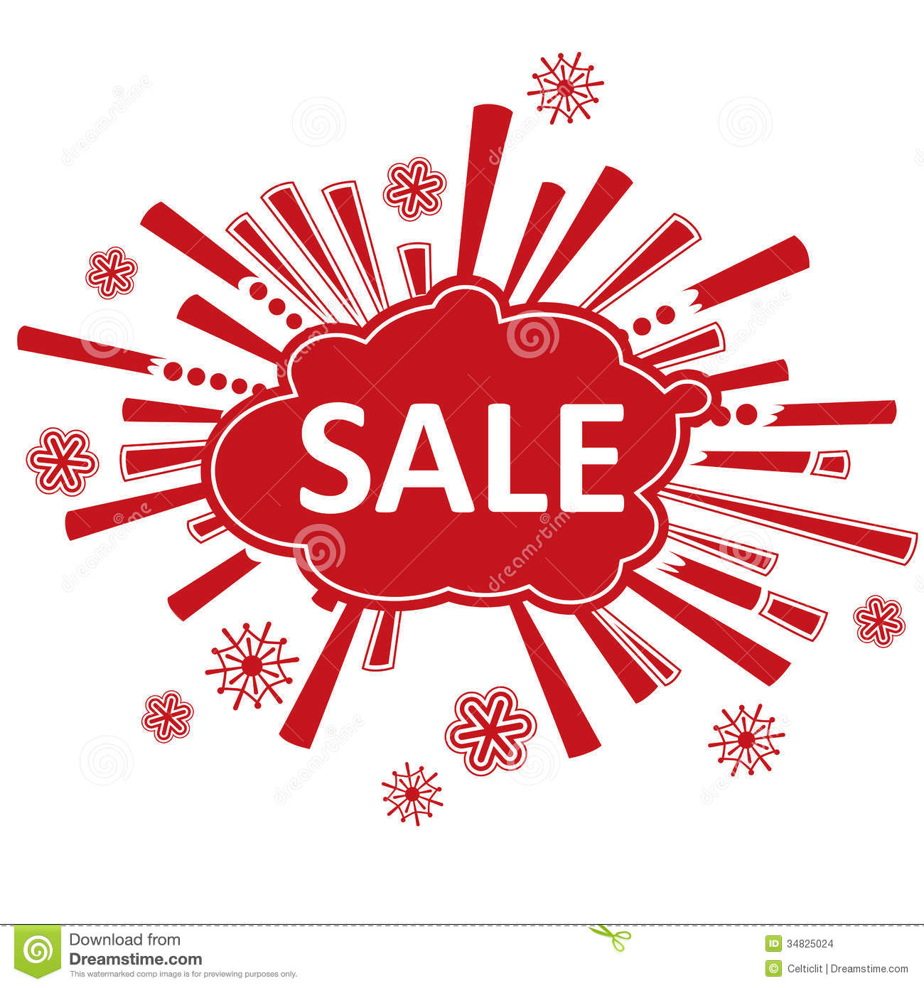 Sale: Christmas Sale Design Stock Vector. Illustration Of Store