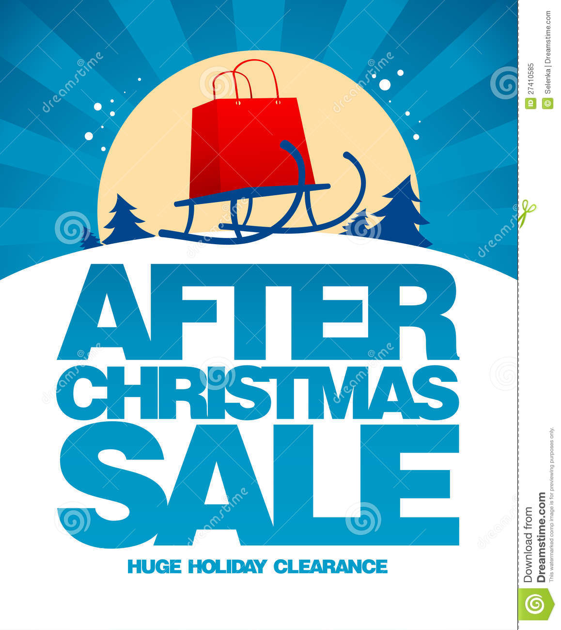 After Christmas Sale Design Template. Royalty Free Stock Photo ...