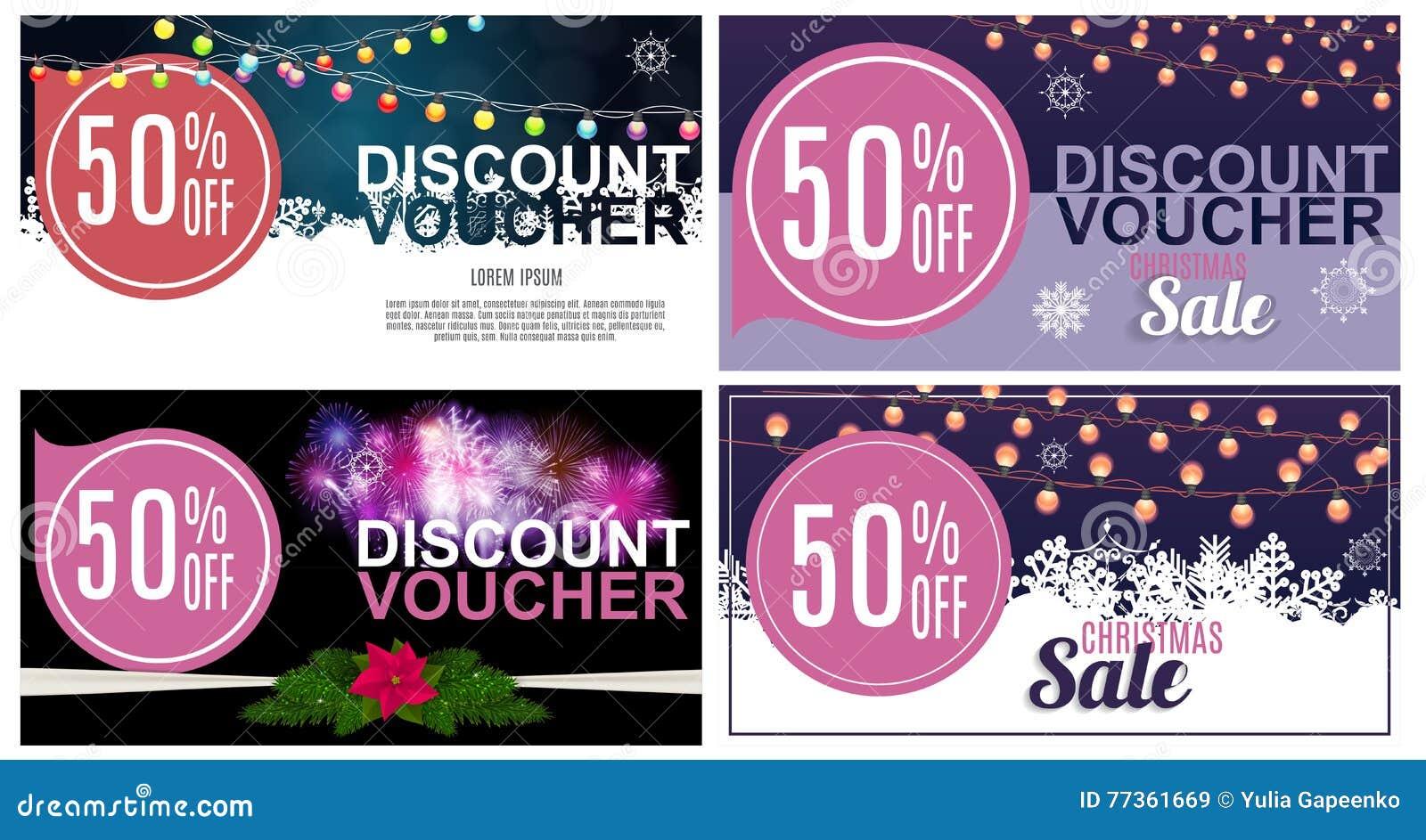 Christmas Sale, Discount Voucher Banner Background. Business ...