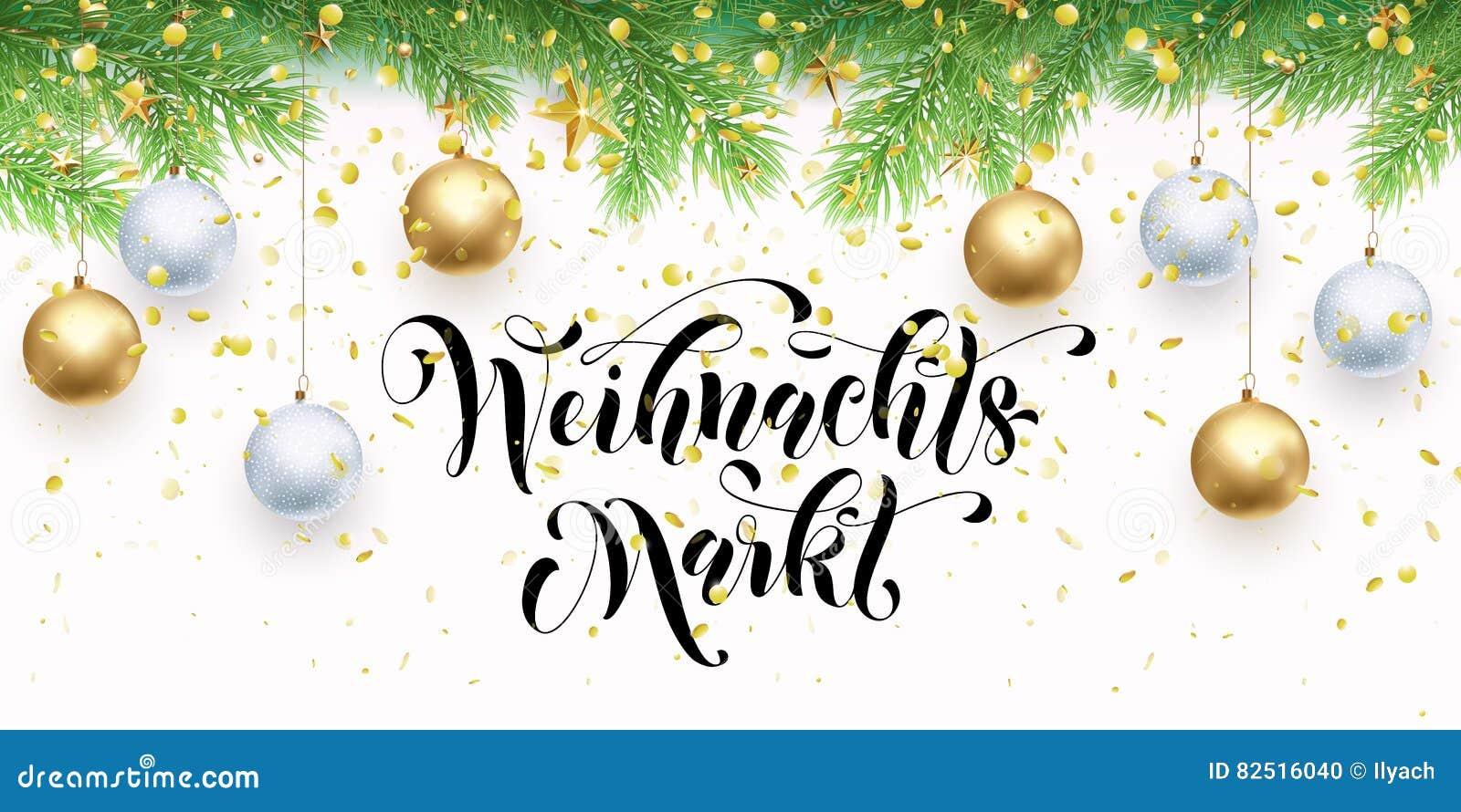 Christmas Sale German Weihnachtsmarkt Discount Promo Banner Stock ...
