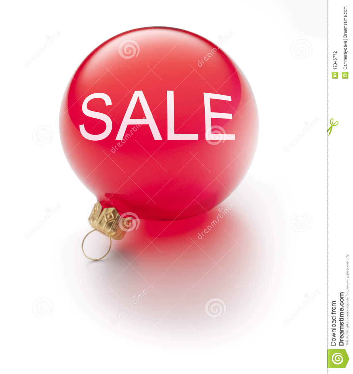 Christmas sale ornament stock photography image 17046772 for Christmas ornaments sale