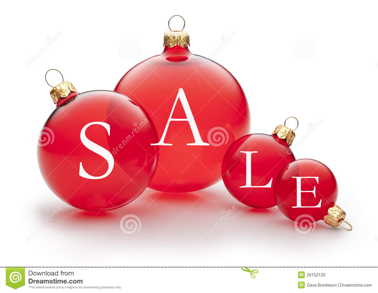 Christmas holiday sale ornament stock photo image 26152120 for Christmas ornament sale clearance