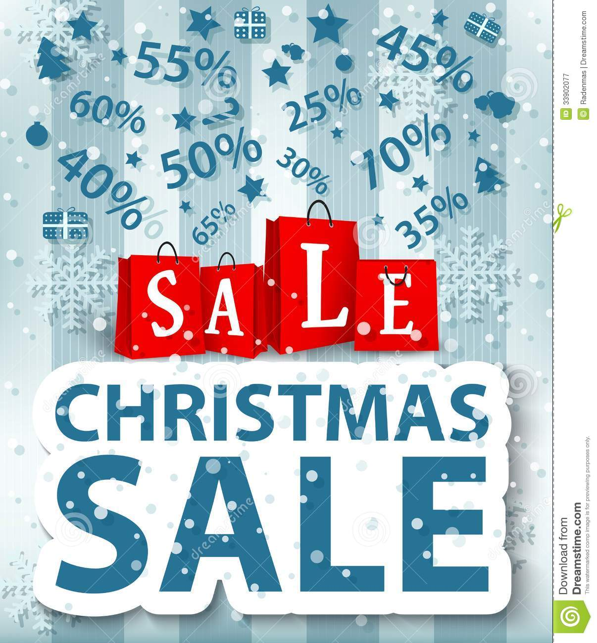 christmas sale poster design with shopping bags stock vector image 33902077