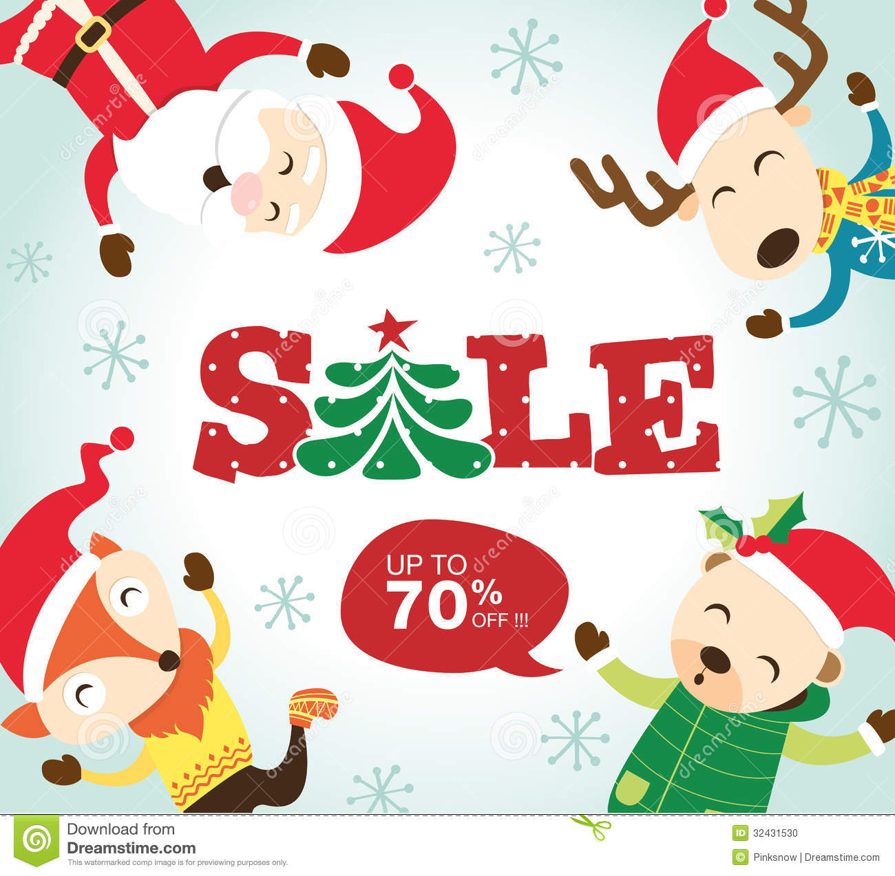 Christmas Sale Poster Stock Photo Image 32431530