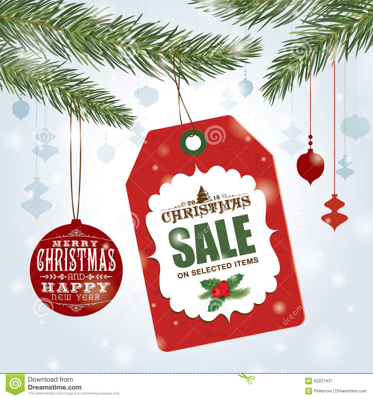 christmas sale poster stock vector illustration of greeting 62227437. Black Bedroom Furniture Sets. Home Design Ideas