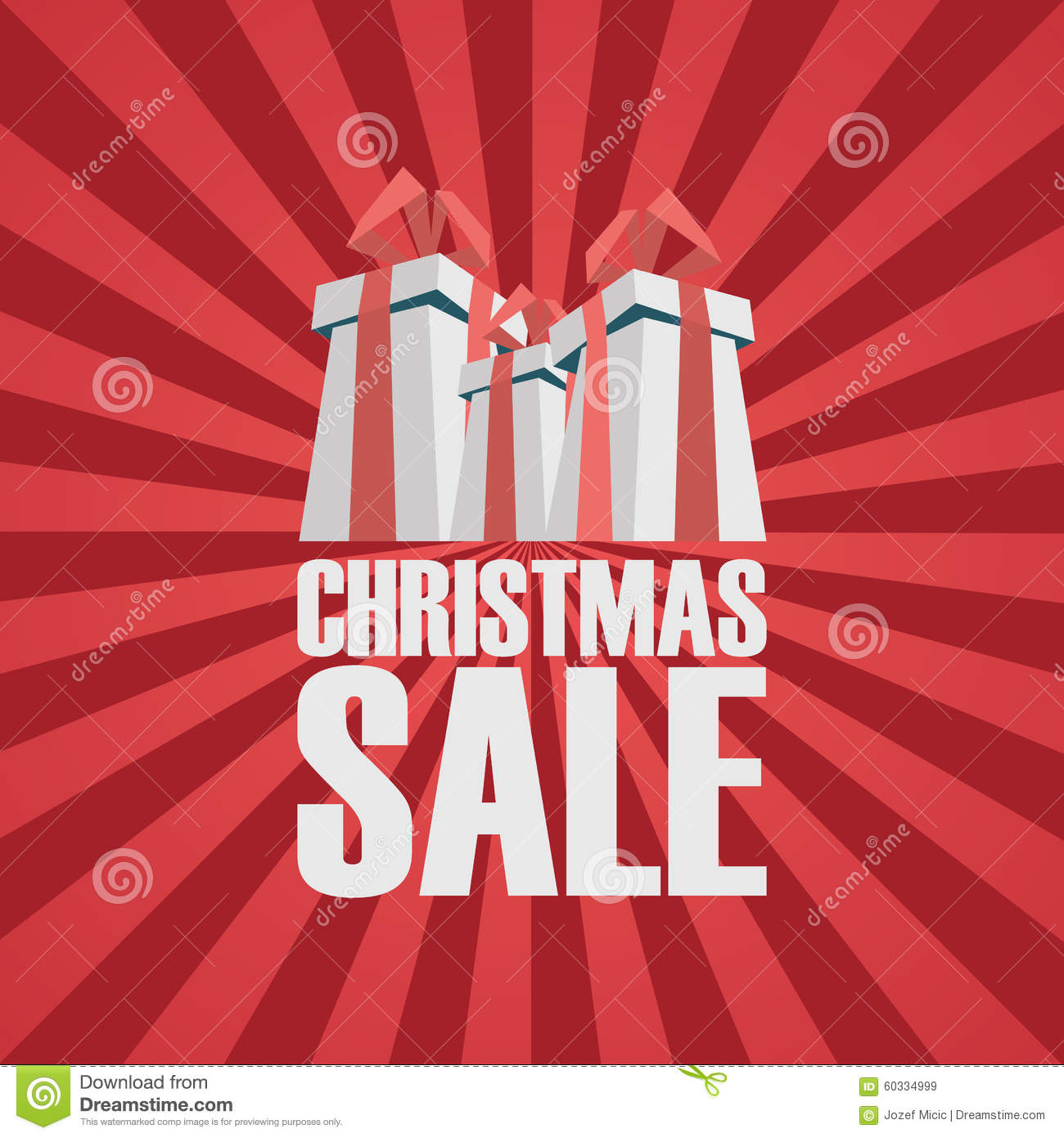 christmas sale poster template holiday sales stock vector