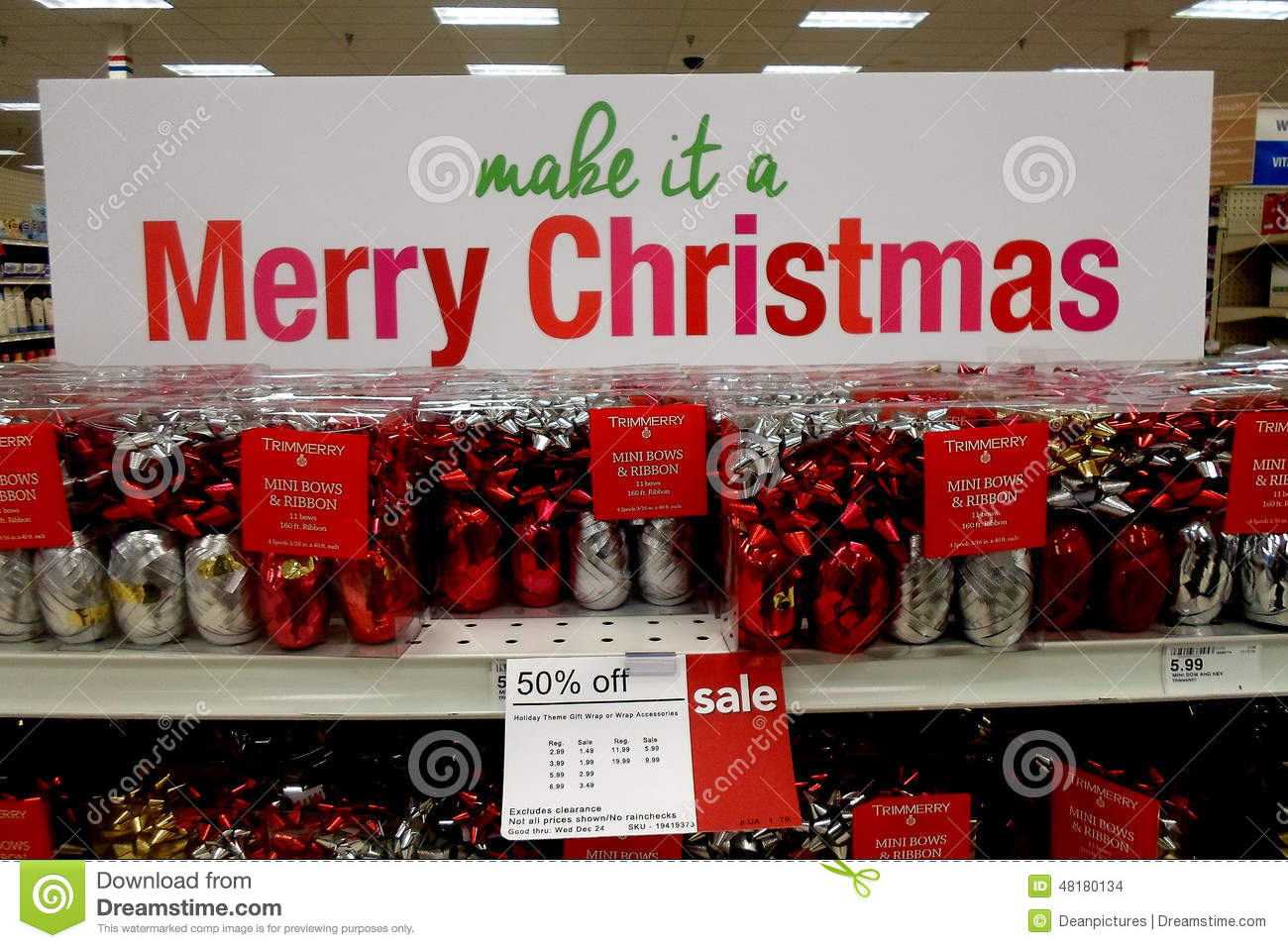 Christmas decoration sale items photograph state usa chri for Christmas sale items