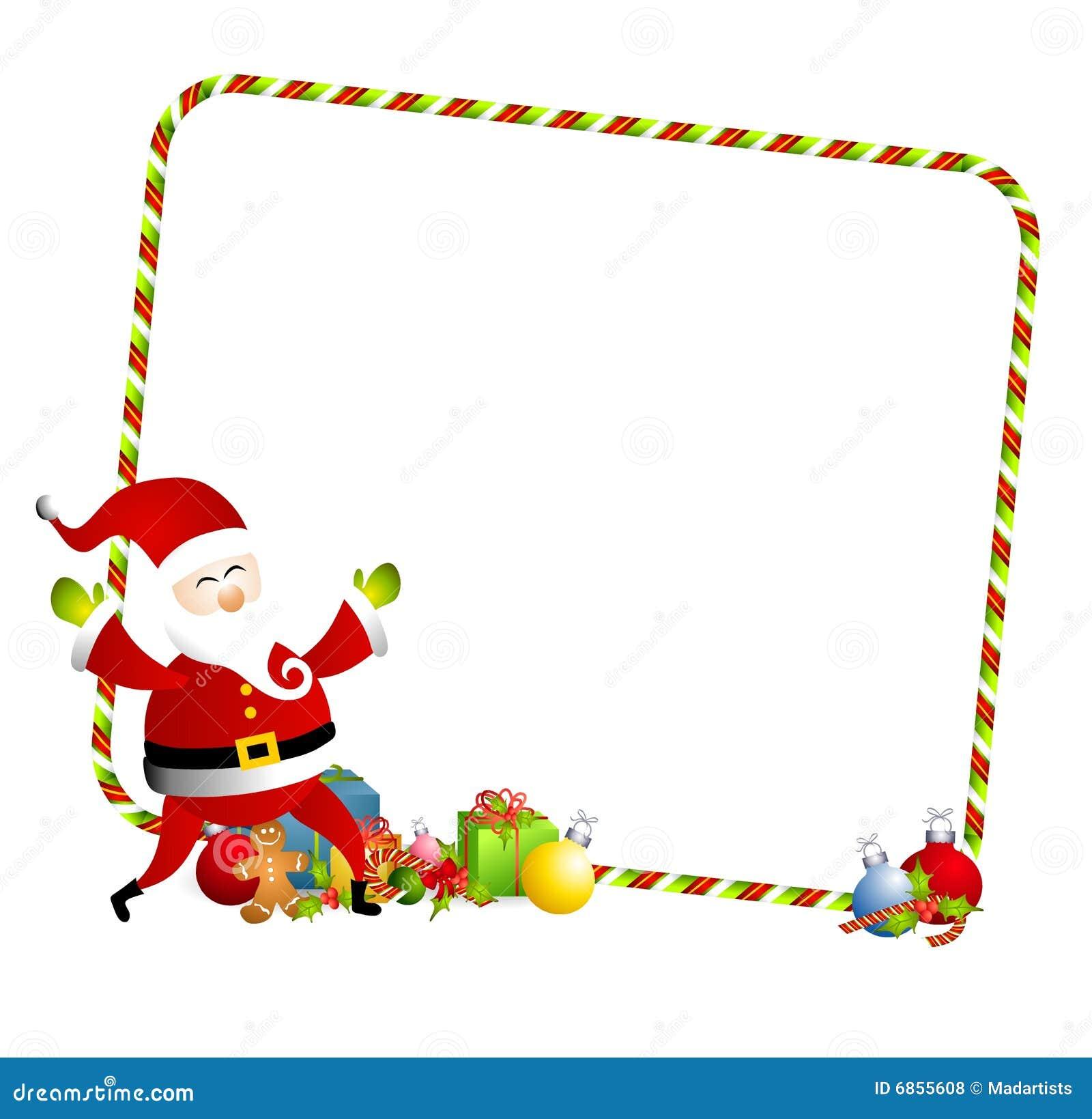 Christmas Santa Border 3 Stock Illustration Illustration Of Festive 6855608